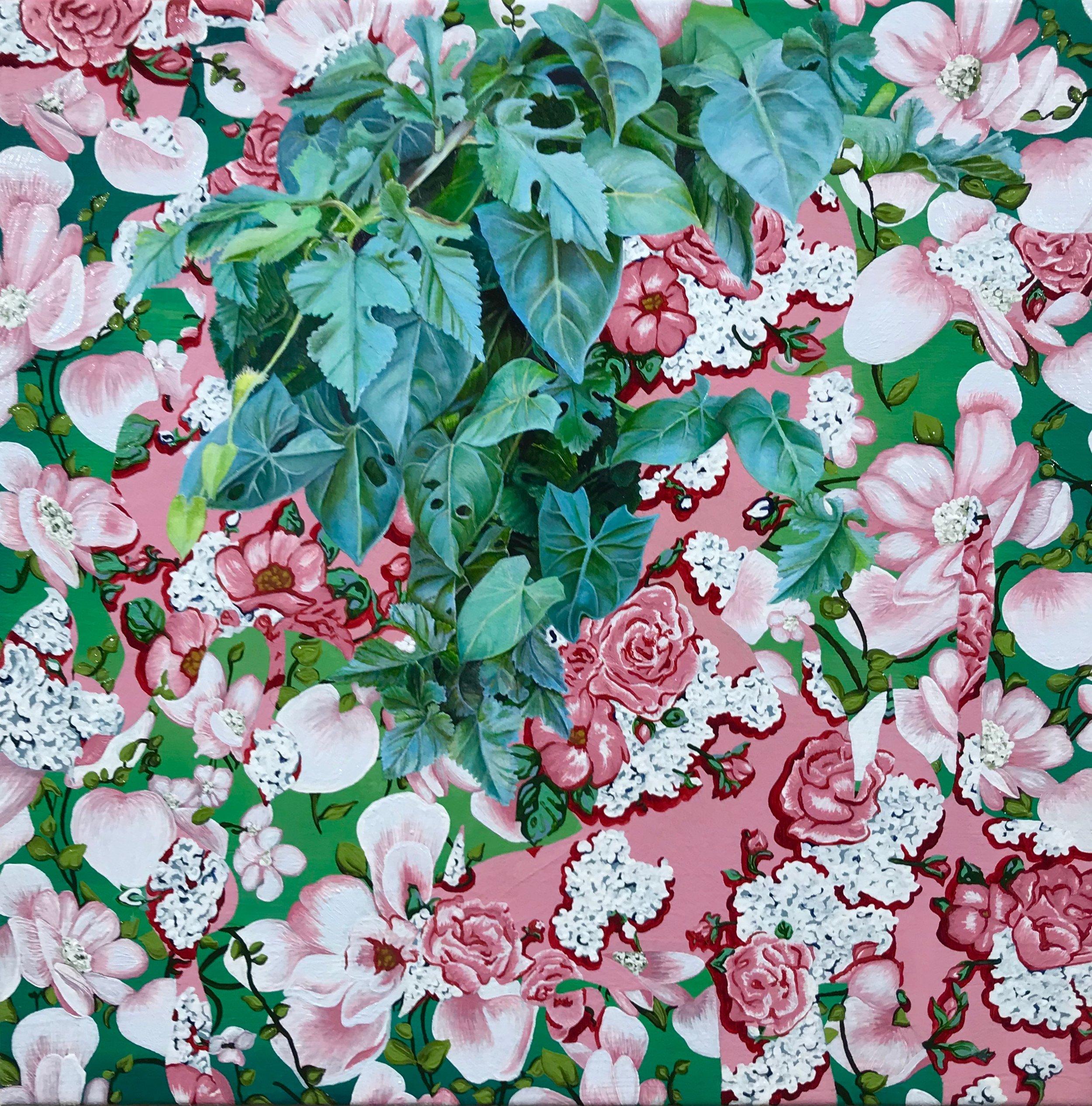 "Carol oil on canvas 18 x 18"" 2018"
