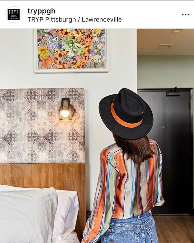"Repost from #Tryp Hotel Lawrenceville ad. I guess I really do make ""hotel art"" now. 😉 They have 21 giclees of mine in 5 different designs, so stay there at least 5 times! #artcollector #interiordesign #hotelart #giclee #corporateart"