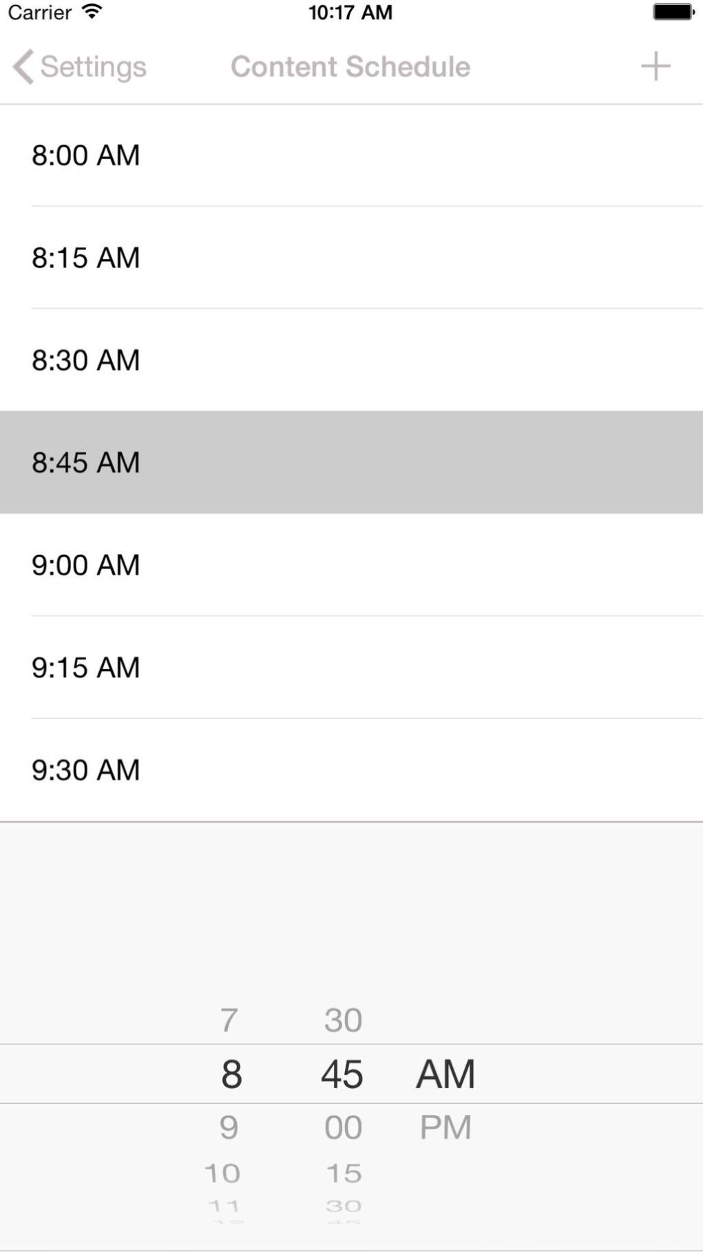 Customizable Content Scheduler