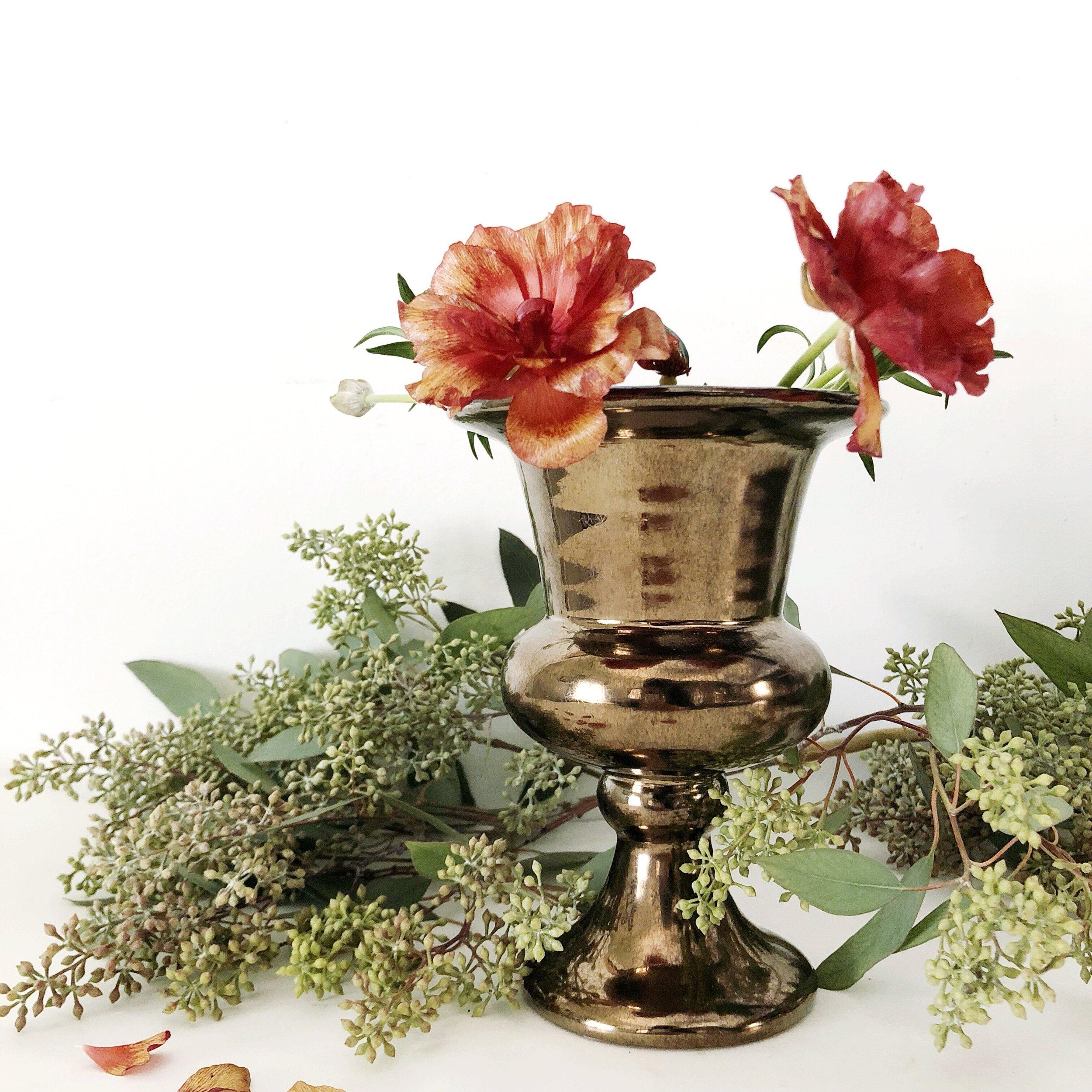 brass urn vases