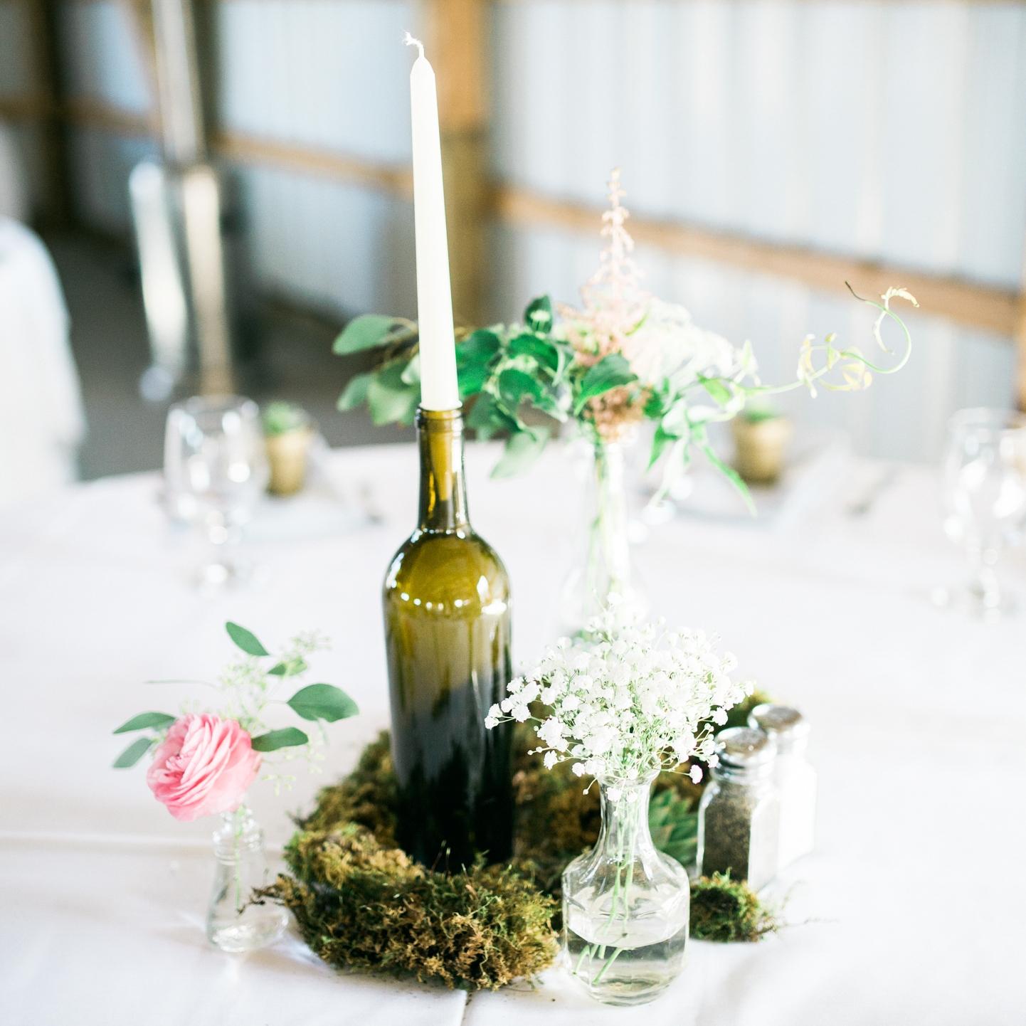 wine bottle candlesticks