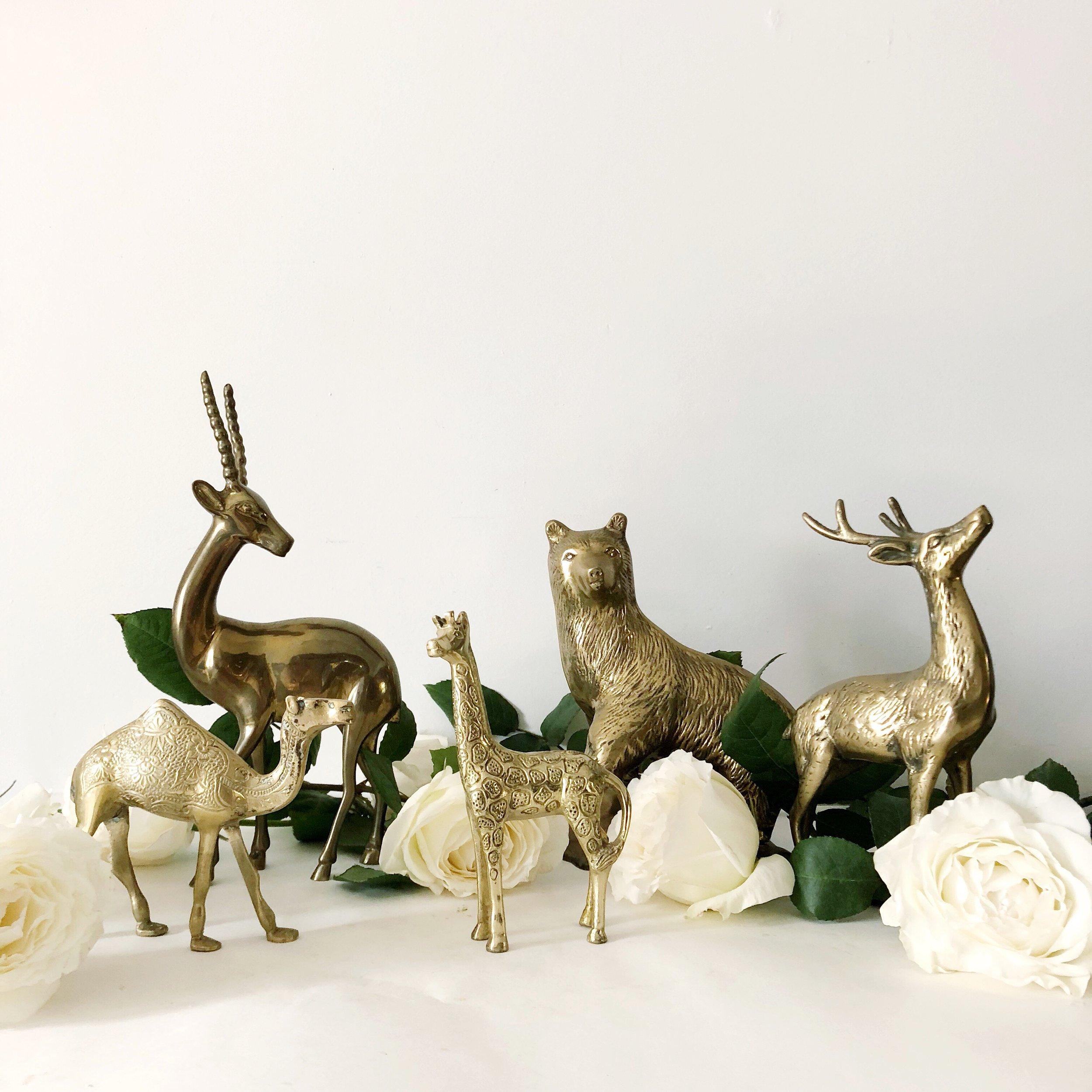 vintage brass animals (30+ varied animals)