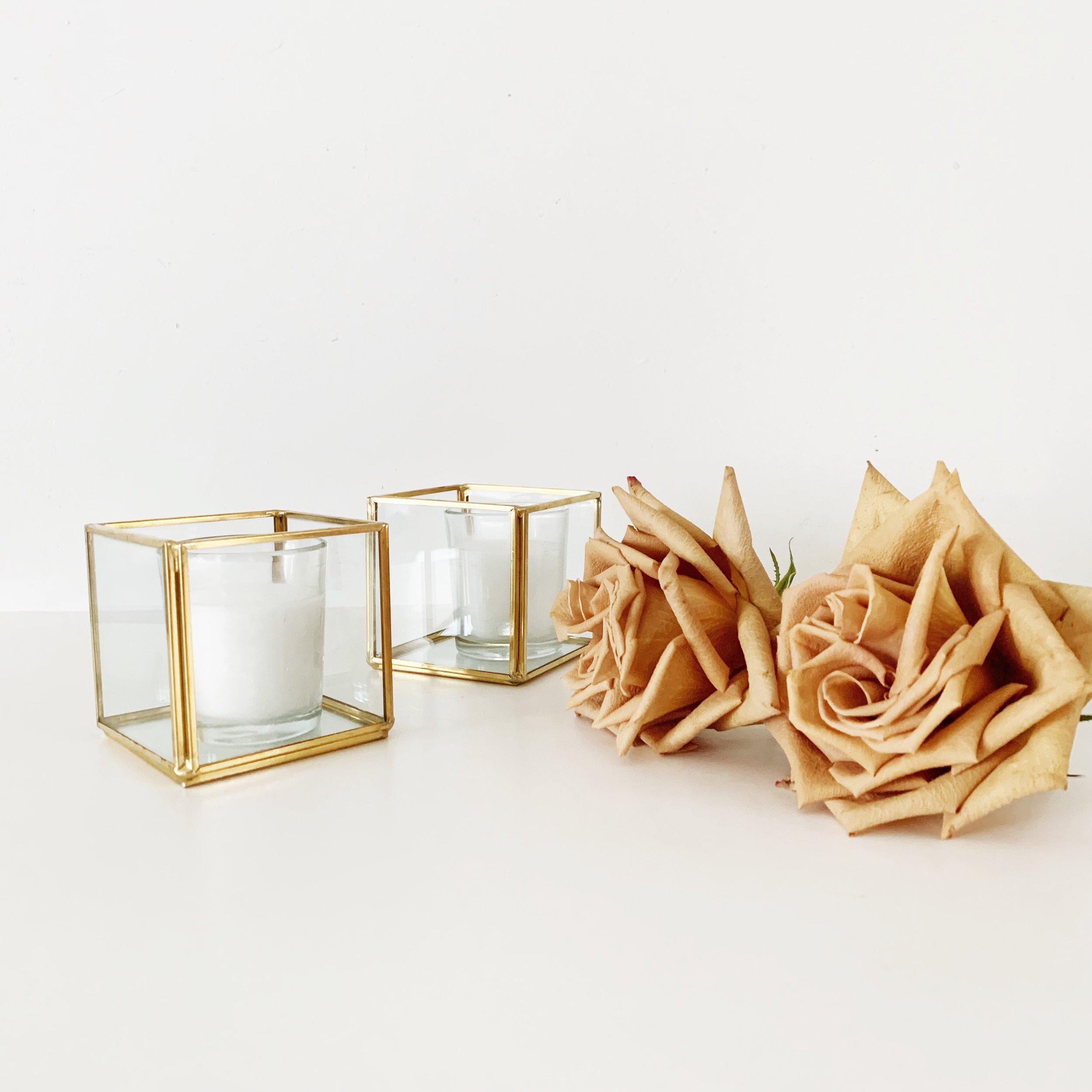 geometric cube votives