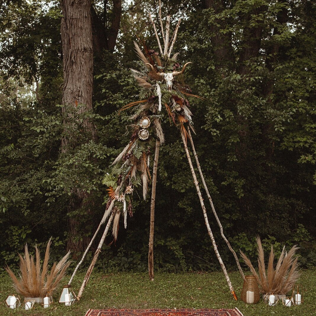 branch teepee arch
