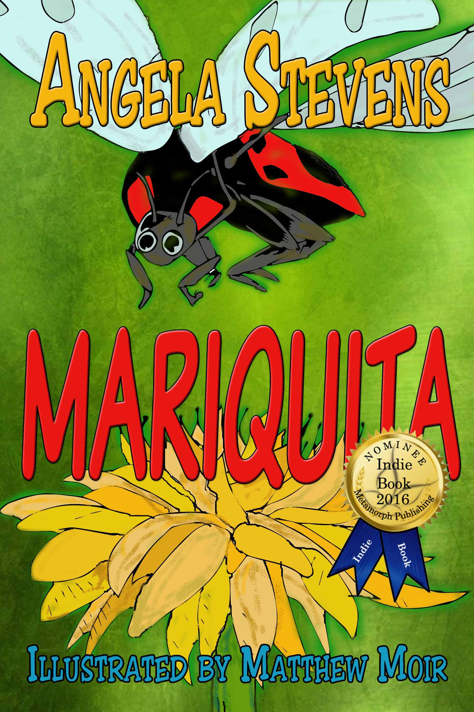 This gorgeous cover uses one of Matthew Moir's drawings, colored by Angela Stevens.