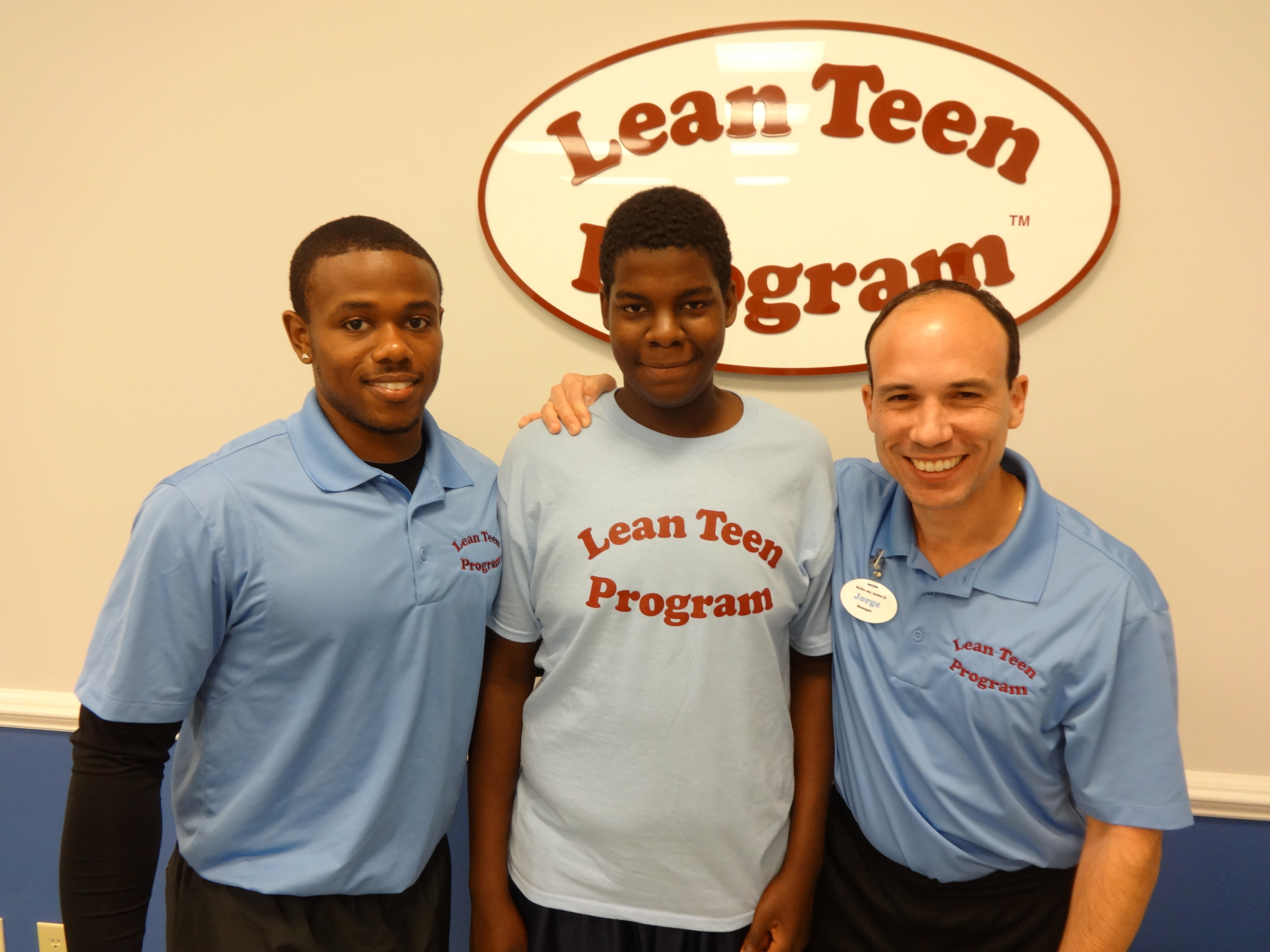 Jorge featured on right with lead trainer Justin and Lean Teen Marquis (14 y/o)