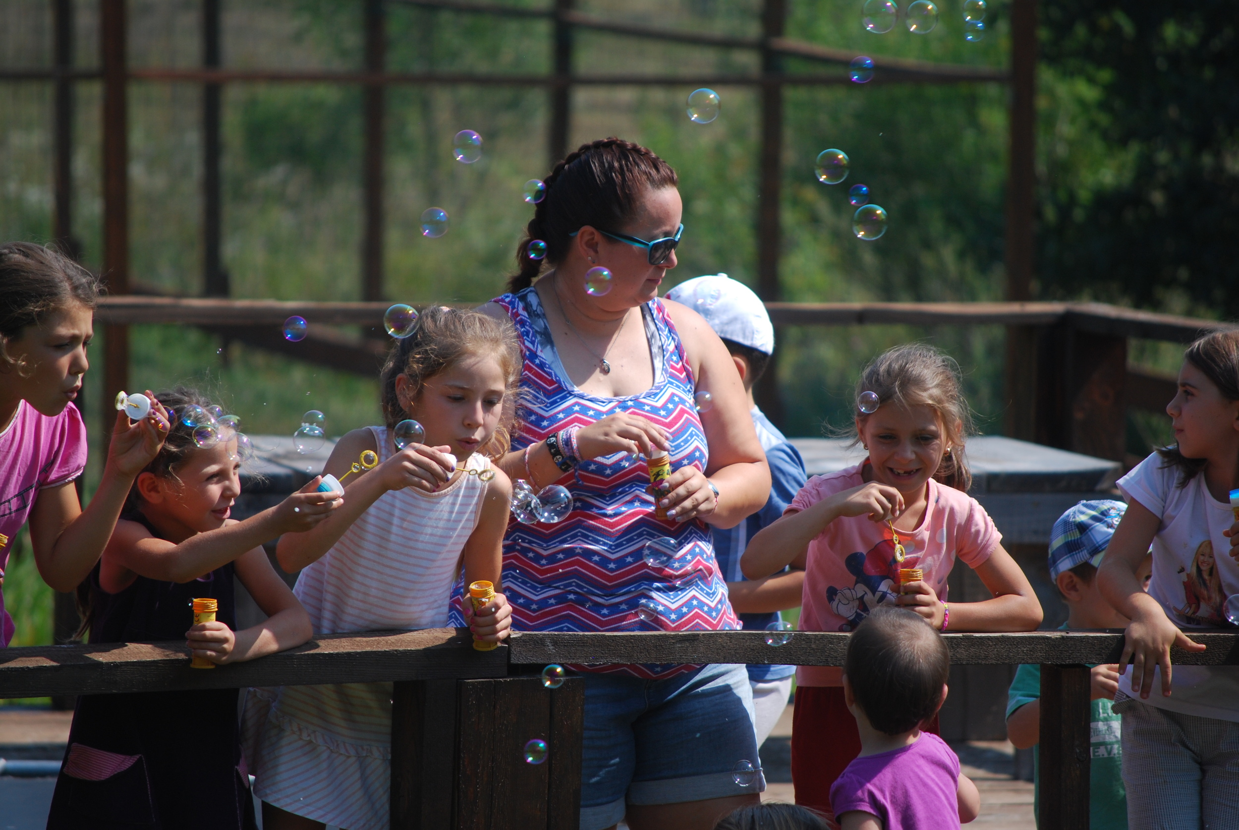Every day we had lots of fun activities like bubbles...