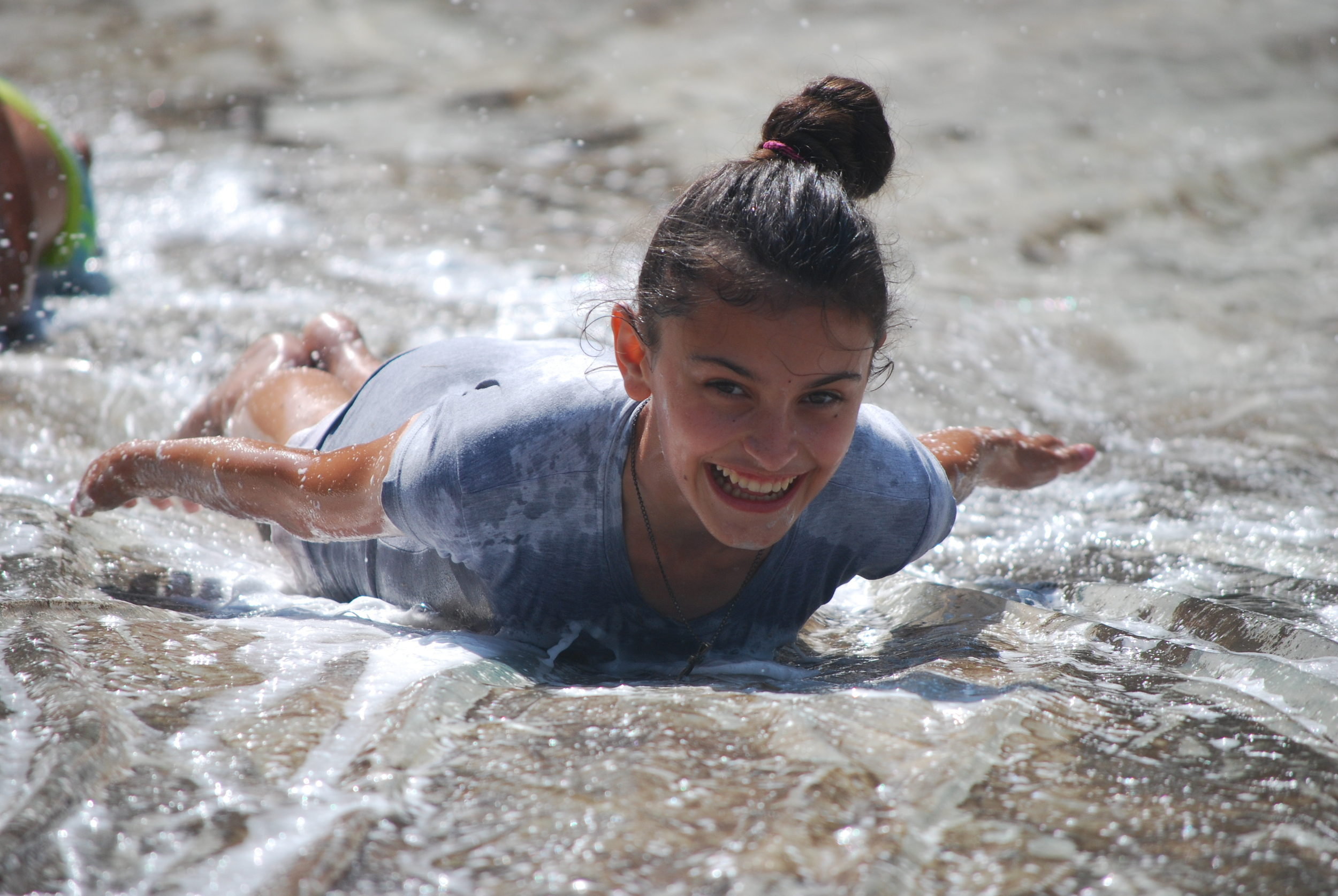 Slip and Slide (or as the kids call it in Romanian tobogan cu apa),