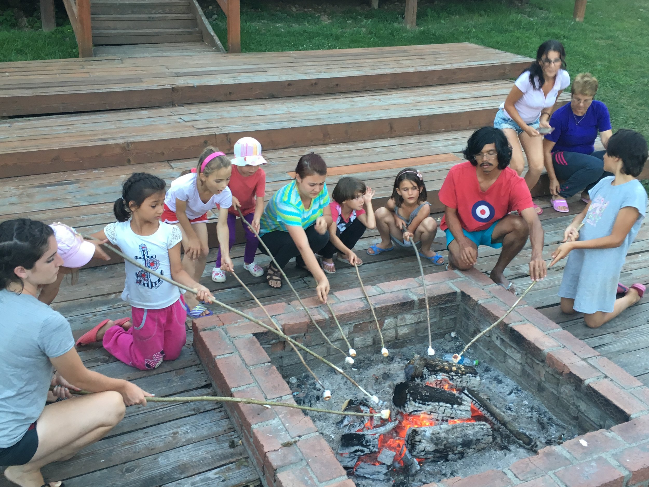 ...roasting marshmallows,