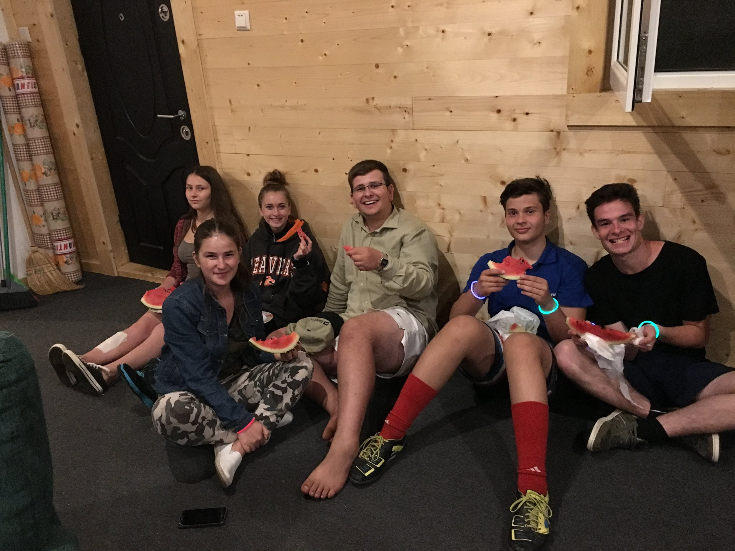 Our summer staff is aways a blast to hang out with. Whether it is a mid-day party in the kitchen or a late night snack their enthusiasm and generosity is always a great blessing.