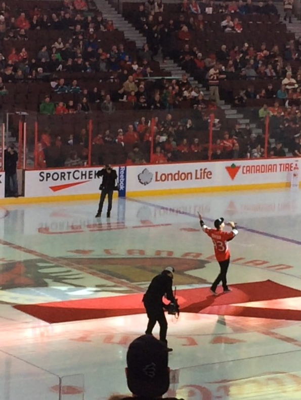 Peter Joynt Live at Canadian Tire Centre Dec 31, 2015 Sens Skills Comp