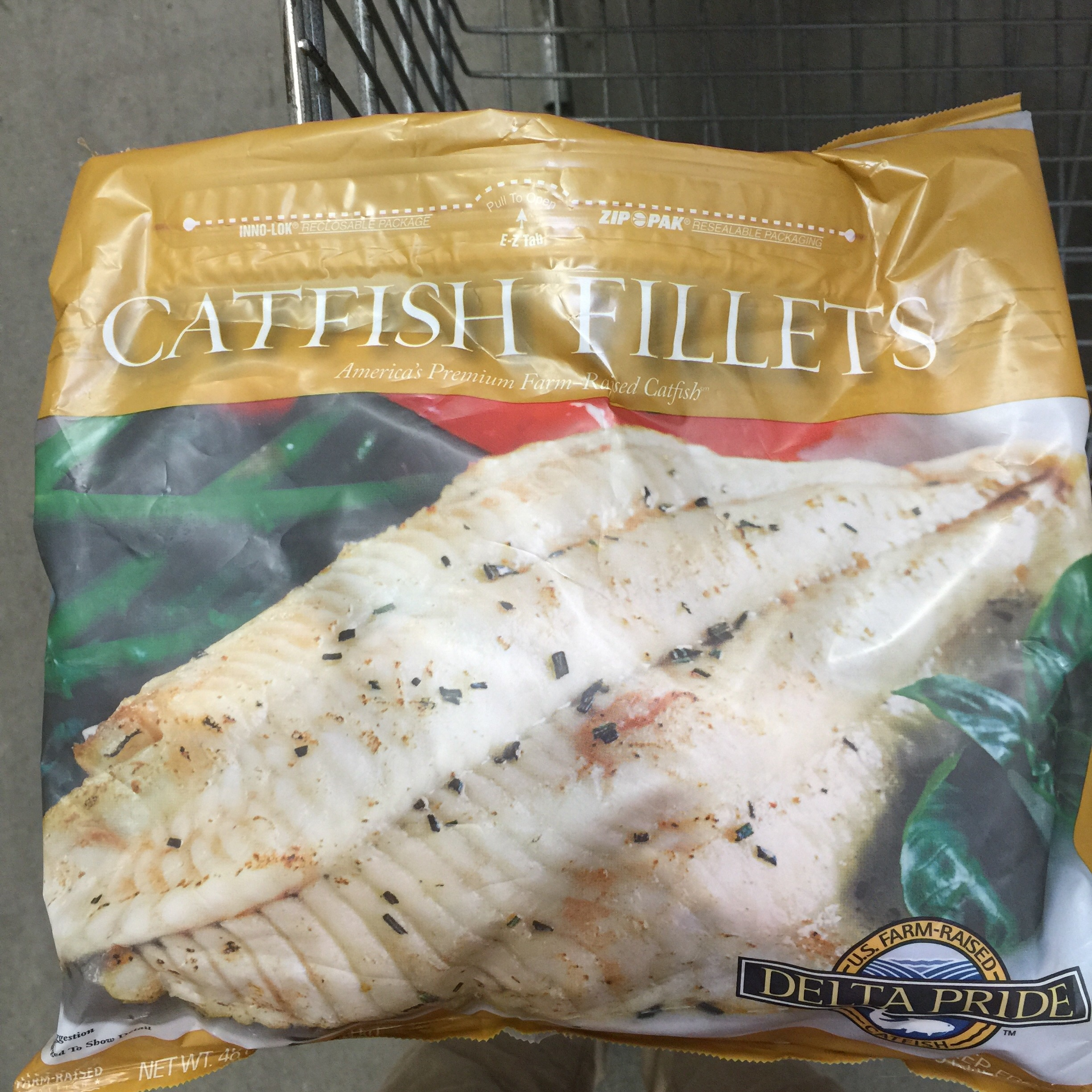Delta Pride Catfish package at Sam's Club.