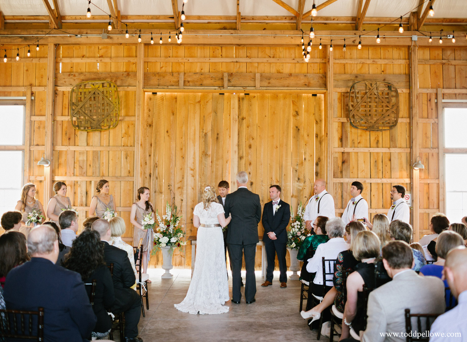 Wedding Ceremony inside Long Ridge Farm Barn