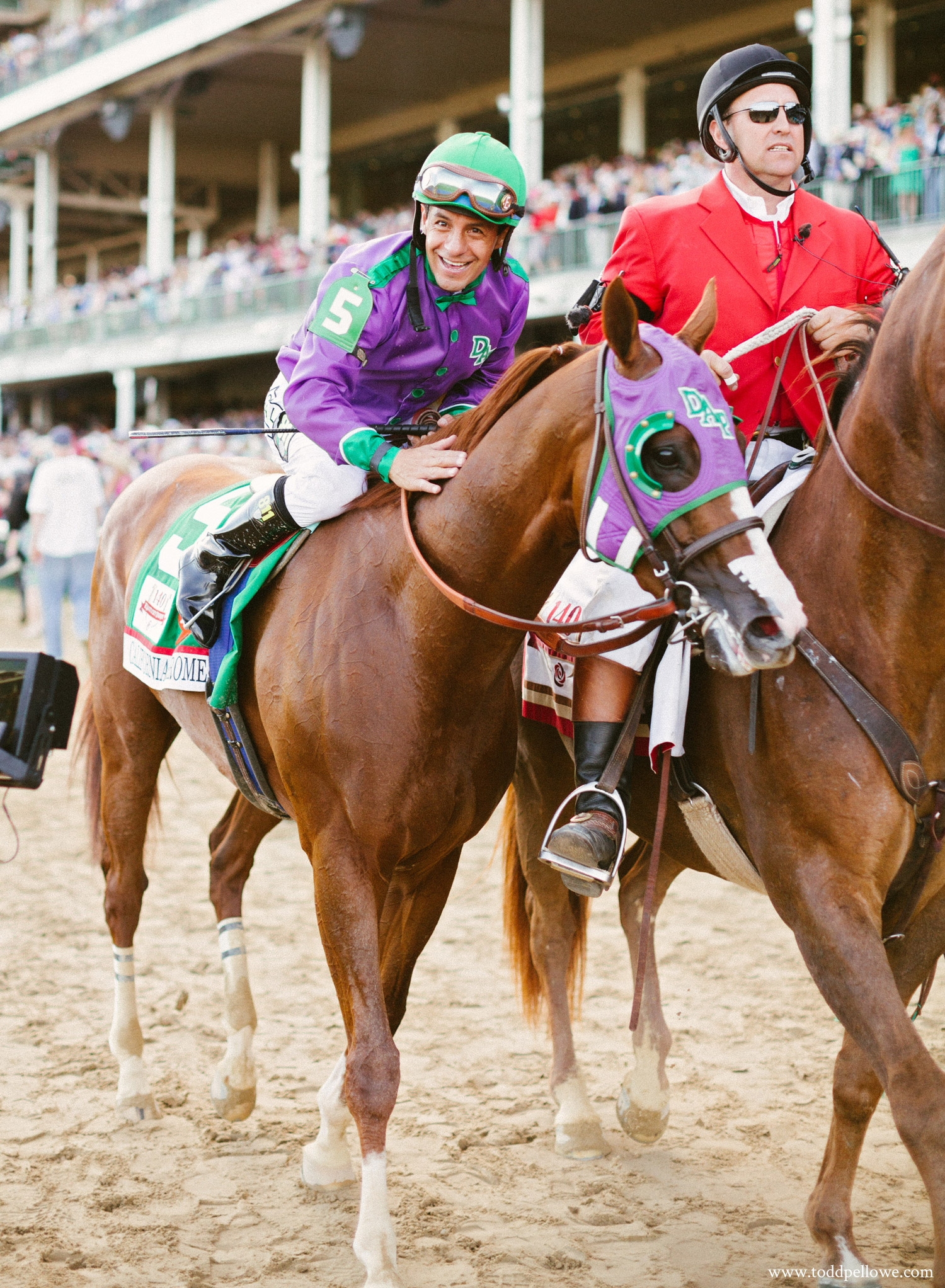 Victor Espinoza after winning the Kentucky Derby