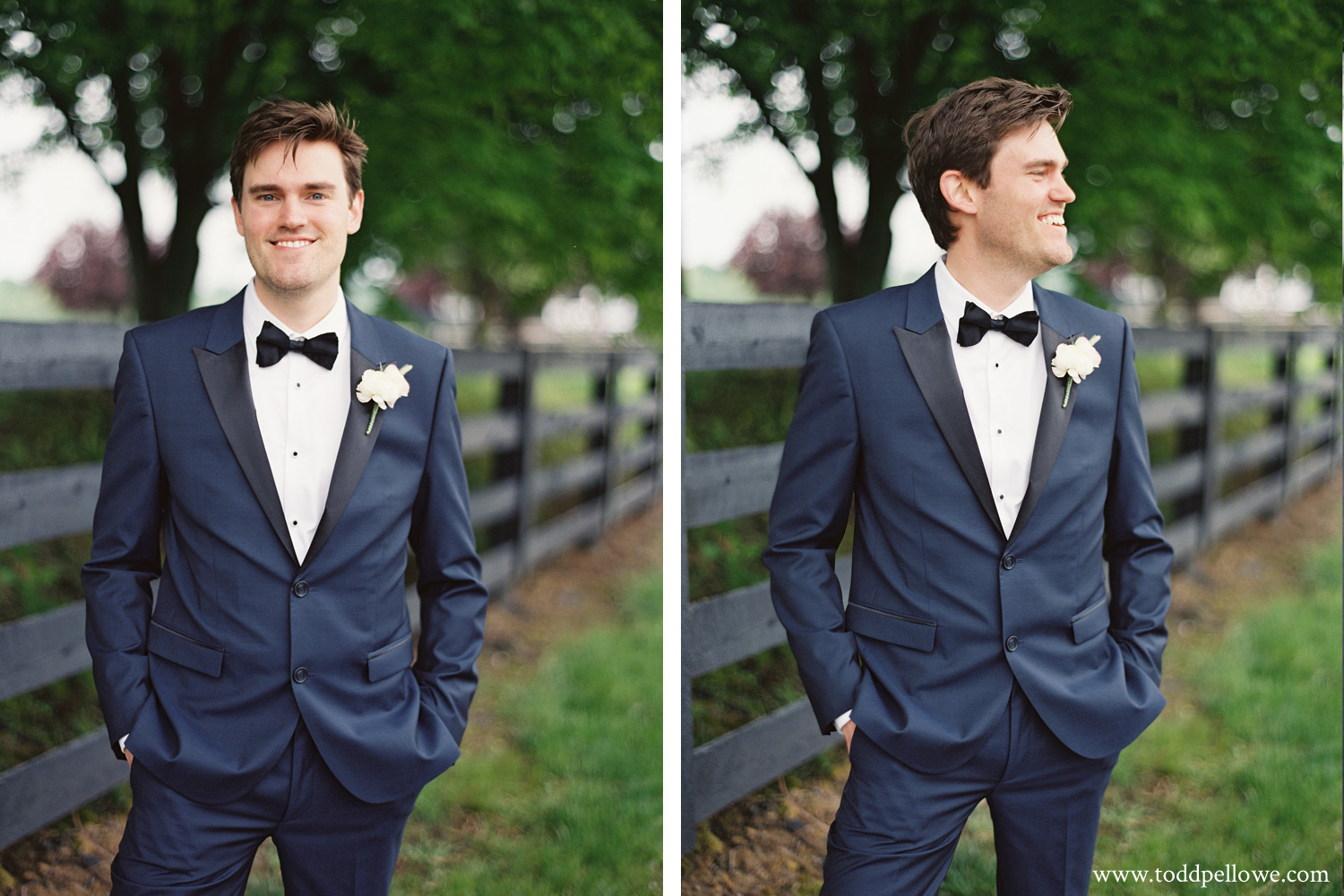 Hugo Boss Navy Tuxedo on Groom