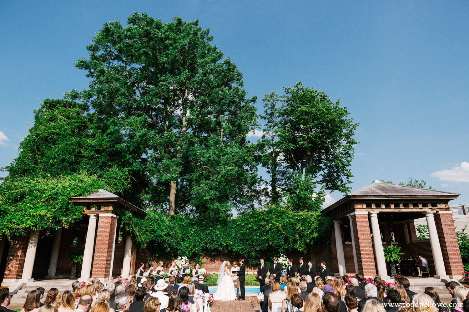 Louisville outdoor wedding ceremony