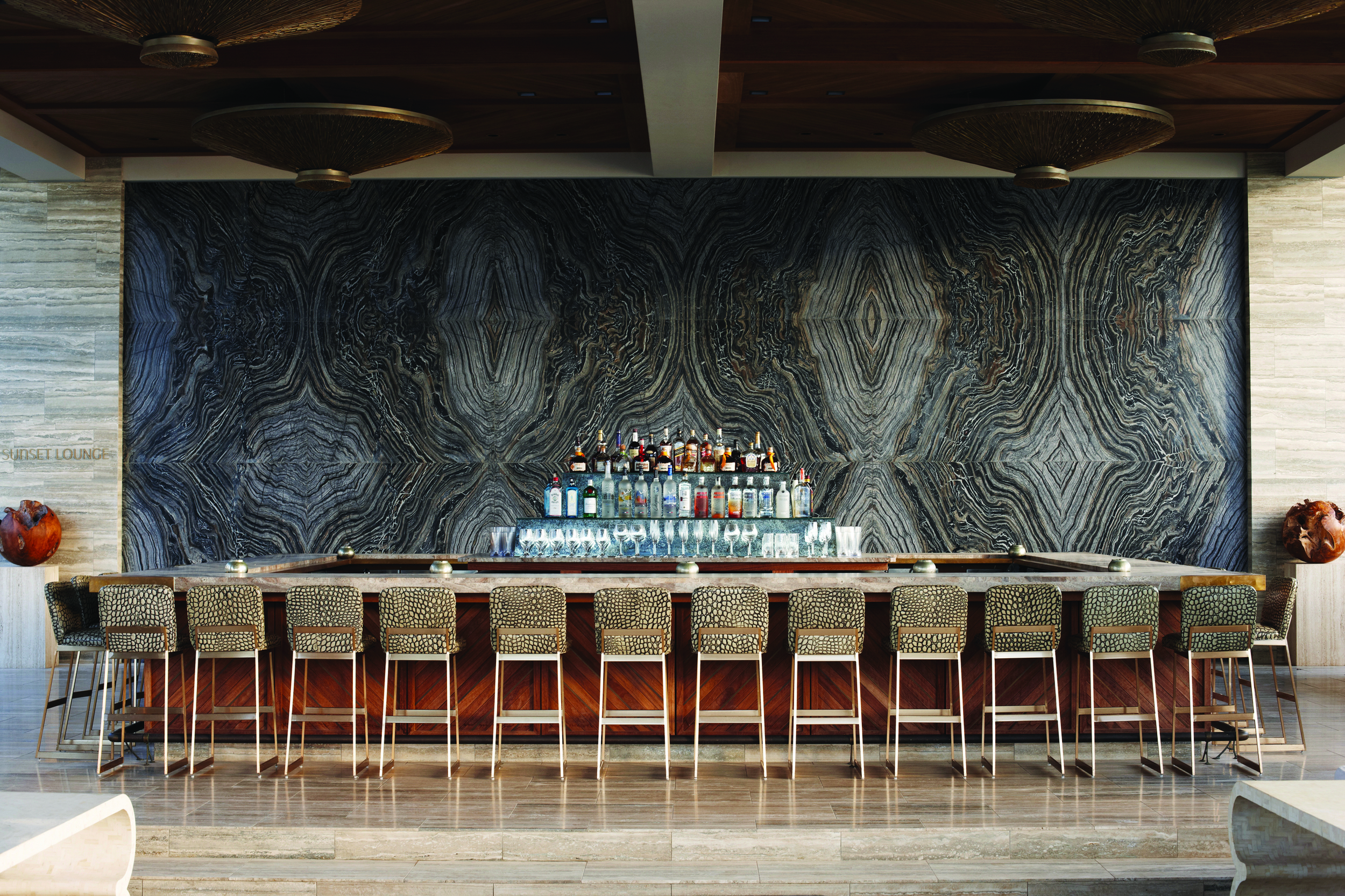The Sunset Bar at the Viceroy Hotel in Anguilla, designed by Wearstler.