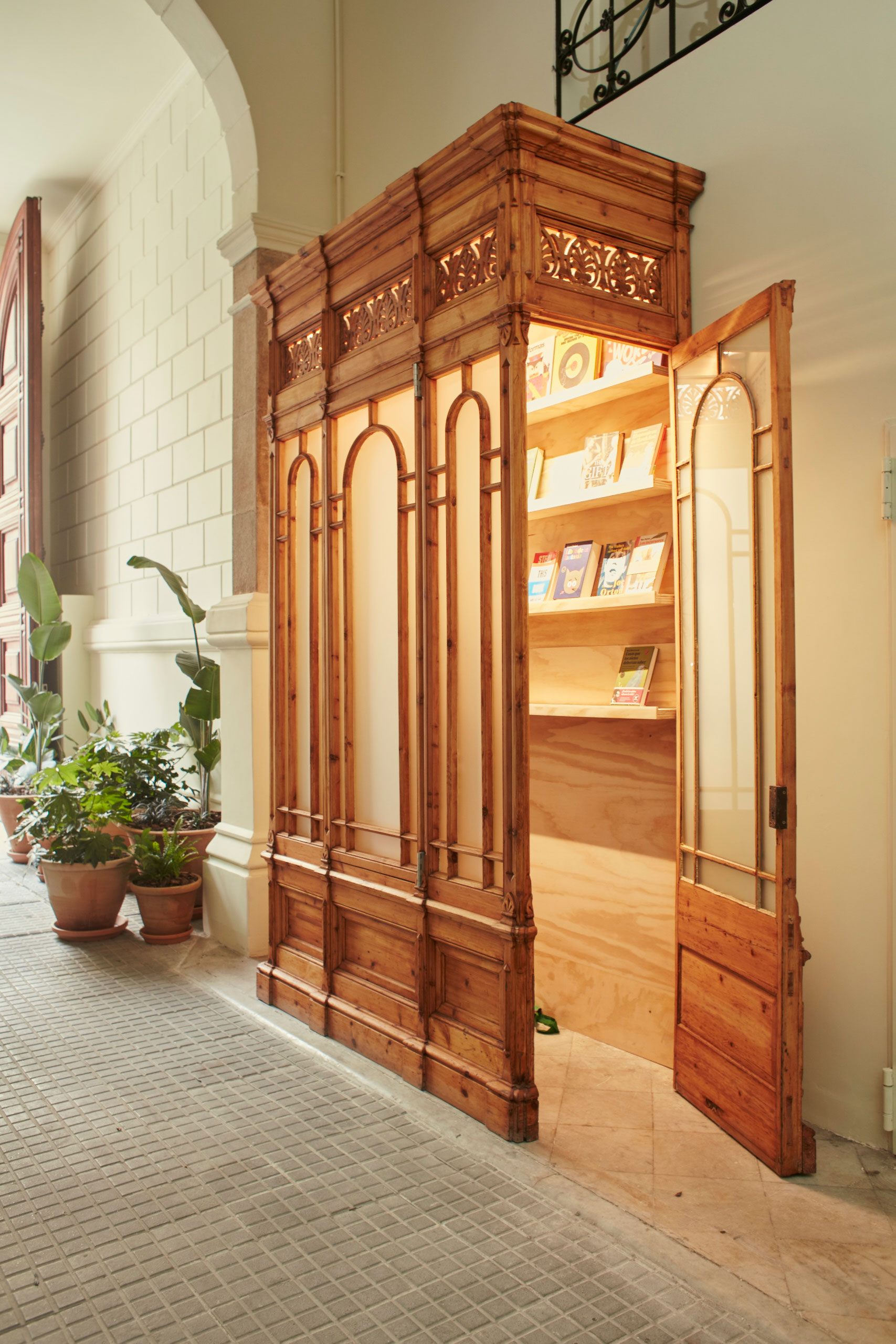 The library by Blackie Books.