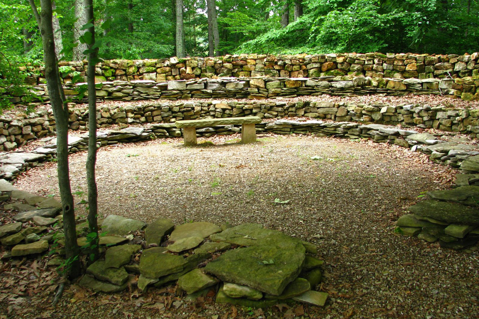 The Wichahpi Commemorative Stone Wall is a moving tribute to the builder's great-great grandmother. (Photo: Laura Bell/Surface)