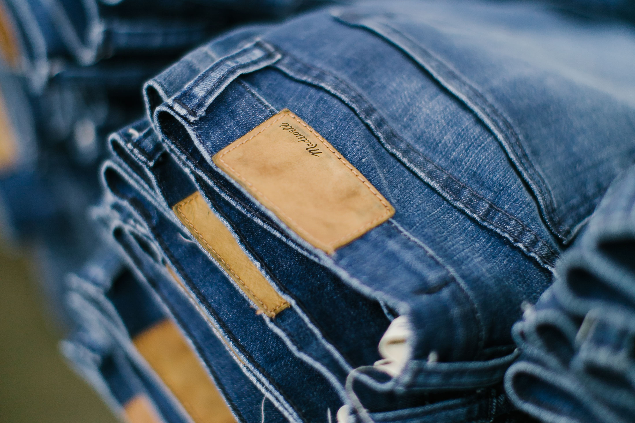 """After the wet and dry processing are completed, the jeans are reinforced at the seams, tagged, and finished. """"When you go back to that jean you feel like yourself. 'It's me, I'm comfortatable,"""" Lee says."""