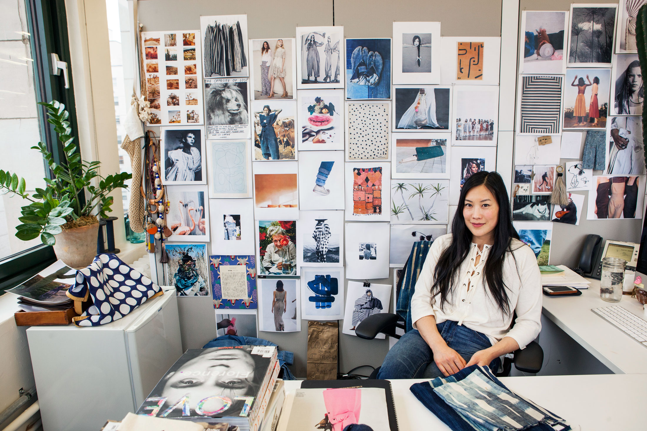 Before beginning the design process, head of design, Joyce Lee, and her team go on shopping trips across the world to source vintage denim references and to have an eye on international style.(Photo: Katherine Wolkoff/Surface)