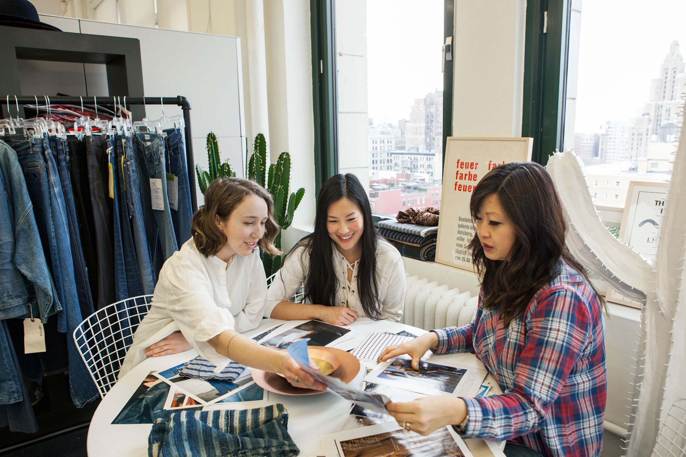 """""""We have our finger on the pulse of what's going on in denim,"""" head of denim design, Mary Pierson, says. """"That's really vital to being on tom of what's coming and how to approach it.""""(Photo: Katherine Wolkoff/Surface)"""