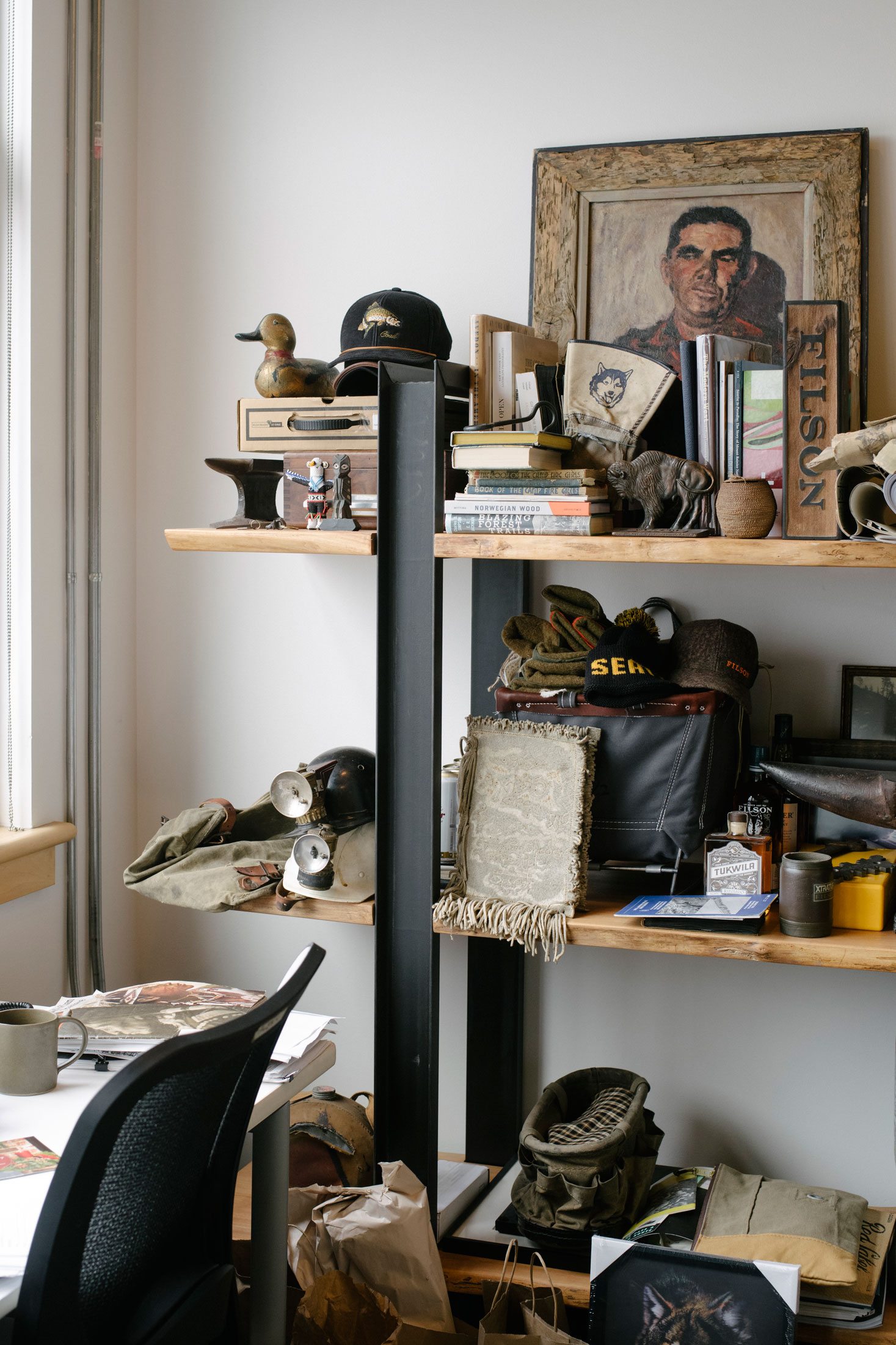 Gray's office, full of inspirational objects. (Photo: Ian Bates/Surface)
