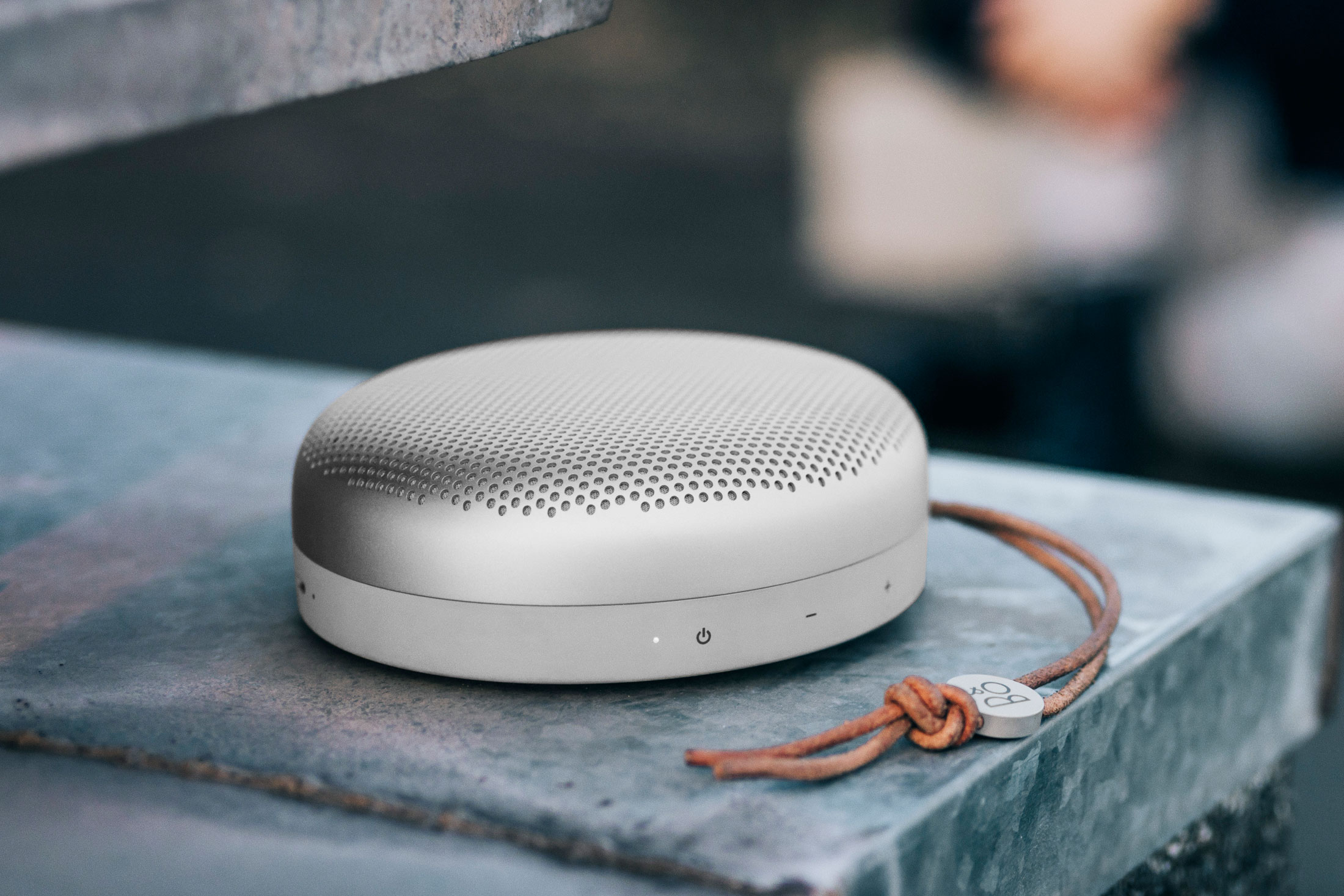 The B&O Play A1 is the brand's first travel-friendly bluetooth speaker. (Photo: Courtesy B&O Play)