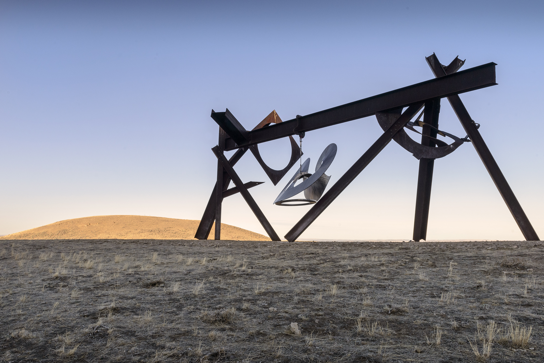 """""""Beethoven's Quartet,"""" a 30-foot-long sculpture by Mark di Suvero. (Photo: Alexis Pike/Surface)"""