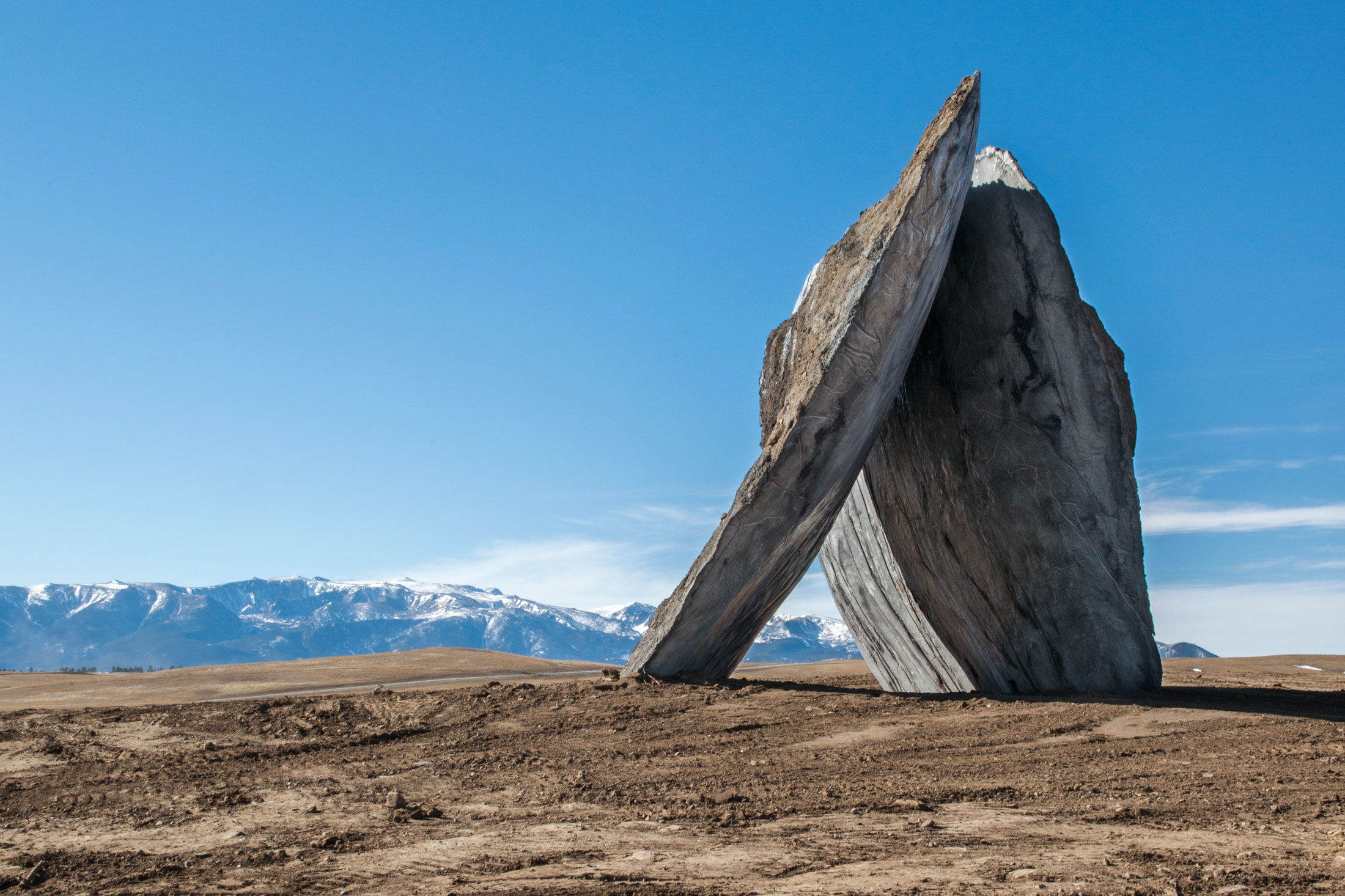 """""""Inverted Porta,"""" one of two large concrete installations by Spanish architecture firm Ensamble Studio. (Photo: Alexis Pike/Surface)"""