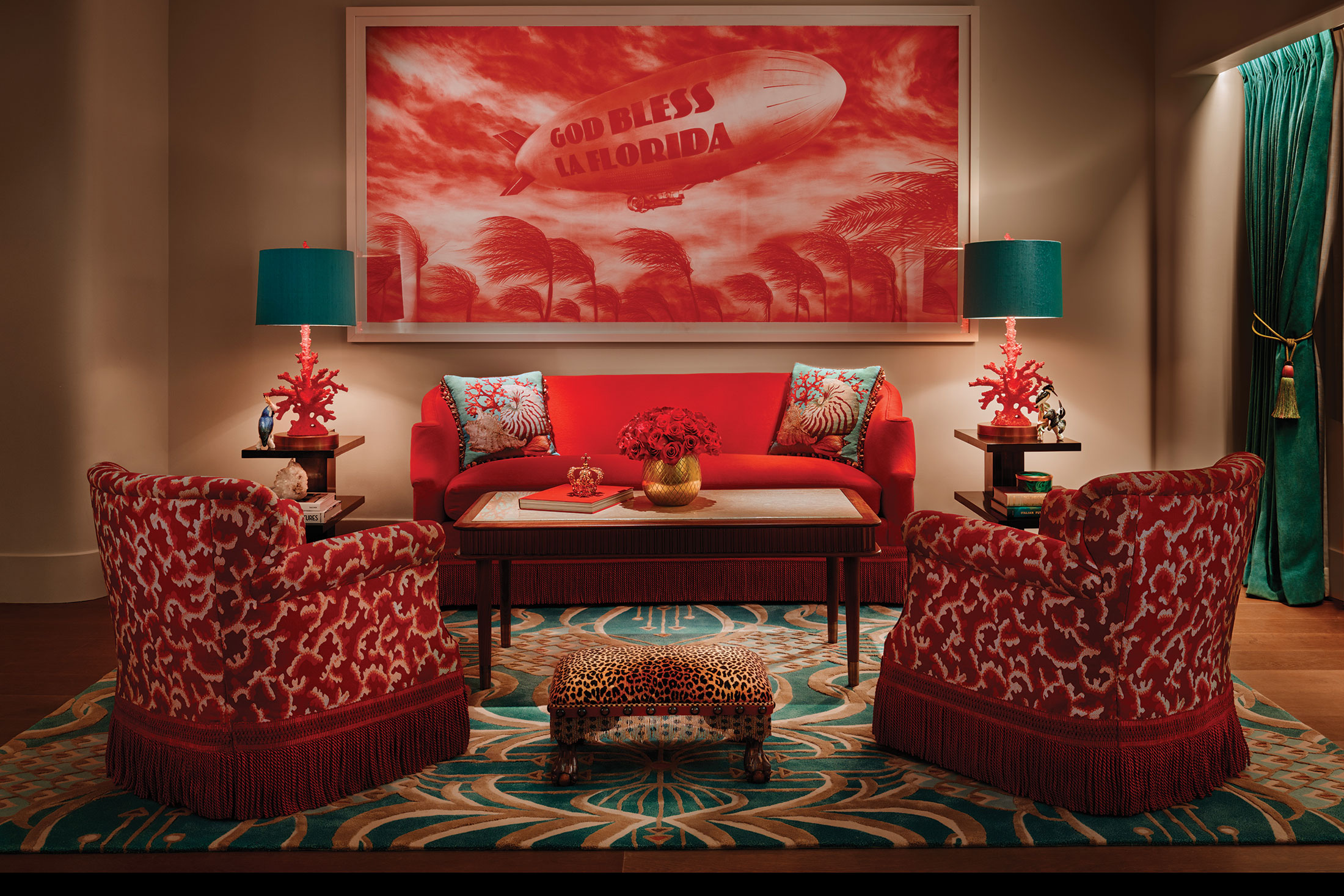 A sitting area in one of the suites. (Photo: Courtesy Faena Hotel Miami Beach)