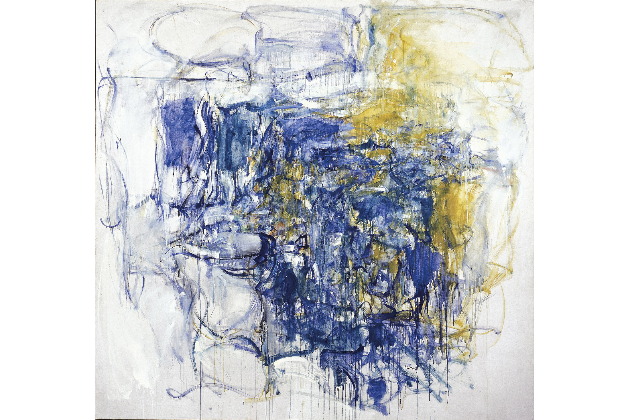 "Joan Mitchell, ""Hudson River Day Line,"" 1955. Oil paint on Canvas. ©Estate of Joan Mitchell."