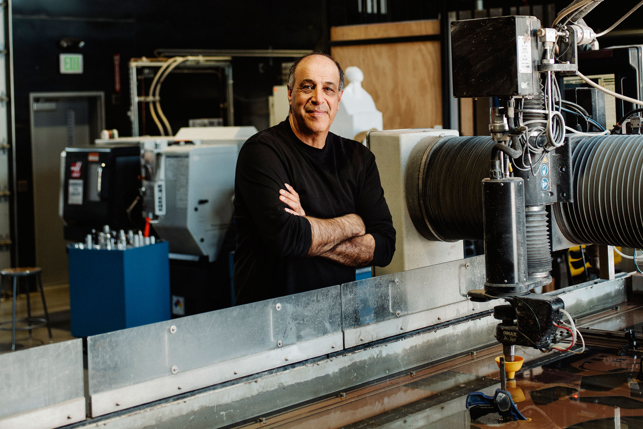 Autodesk CEO Carl Bass inside his company's workshop. (Photo: Jake Stangel/Surface)