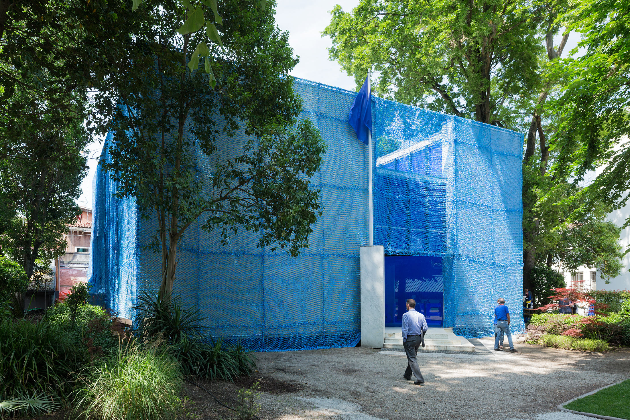 "Shoshan's ""Blue: Architecture of UN Peacekeeping Missions"" at the Dutch Pavilion at the 2016 Venice Architecture Biennale. (Photo: Courtesy of Malkit Shoshan)"
