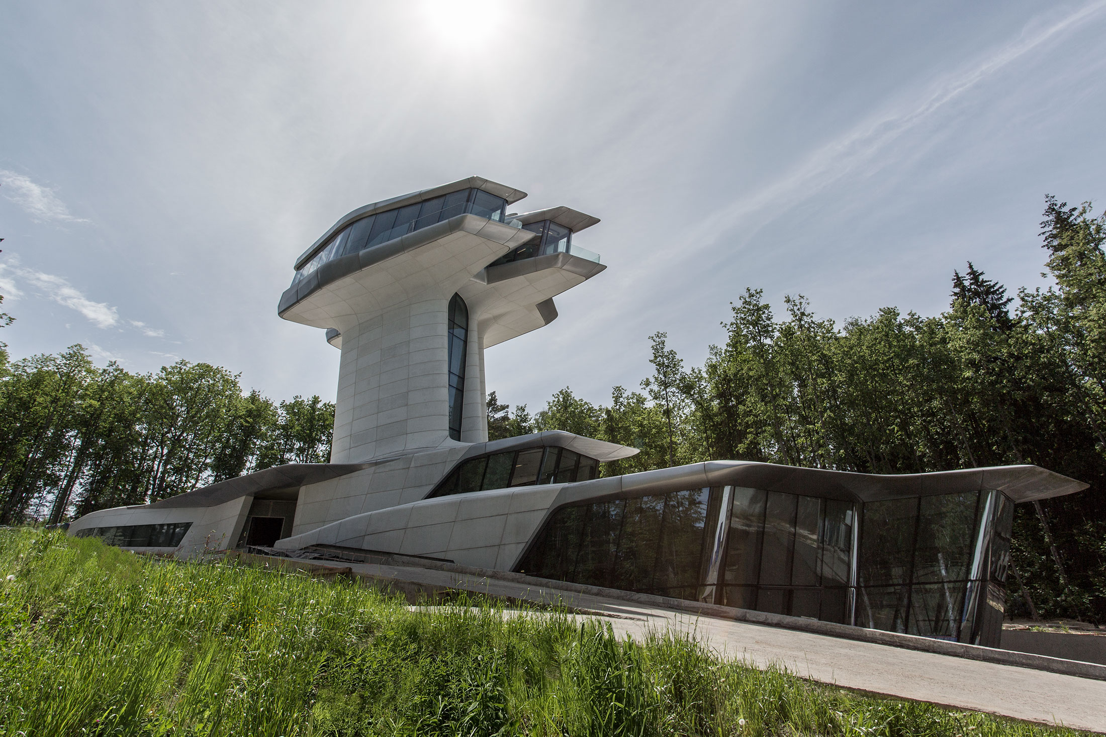 Doronin's private residence, designed by Zaha Hadid. (Photo: D. Fiser/Courtesy Zaha Hadid Architects.)