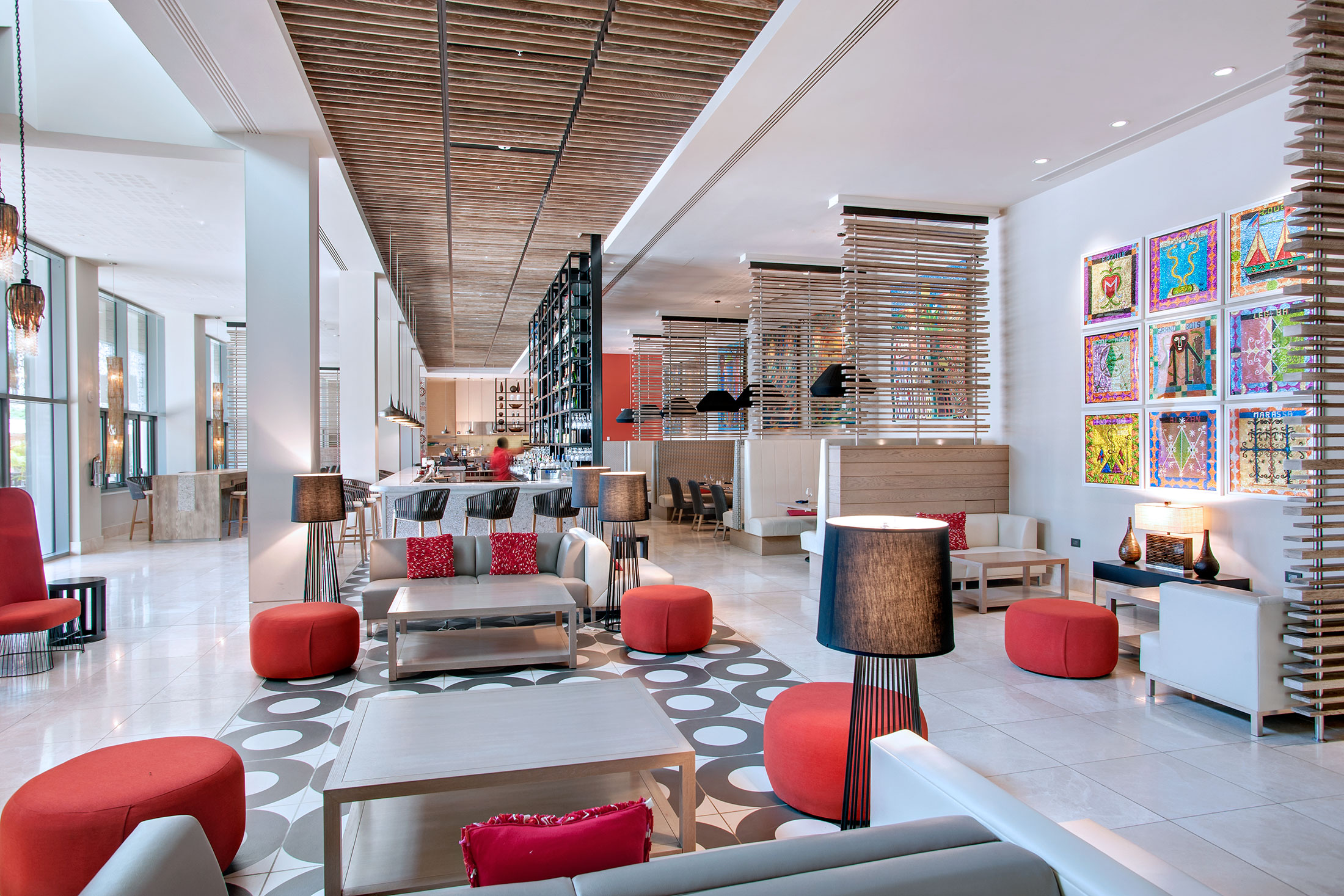The lobby at the Marriott Port-au-Prince Hotel. (Photo: Courtesy Marriott)