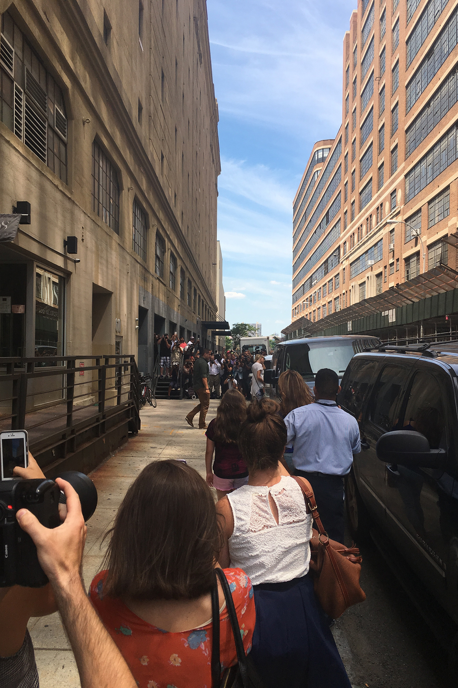 Taylor Swift, in August, exiting the Manhattan location of Body by Simone, which is across the street from the  Surface  offices. (Photo: Our very own Jonathan Bues)