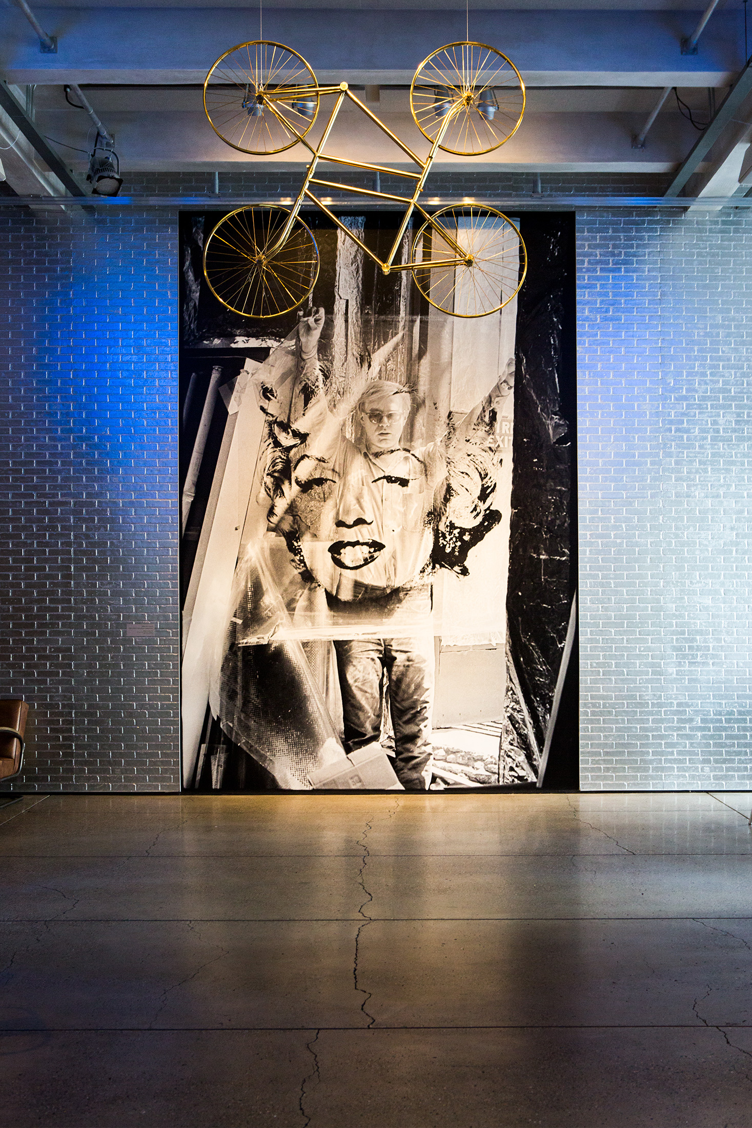 """An installation created by Ai Weiwei for the """"Andy Warhol 