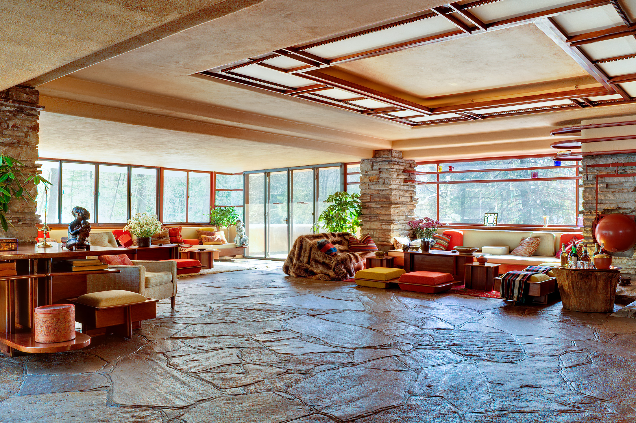 Inside Fallingwater. (Photo: Courtesy Western Pennsylvania Conservancy)
