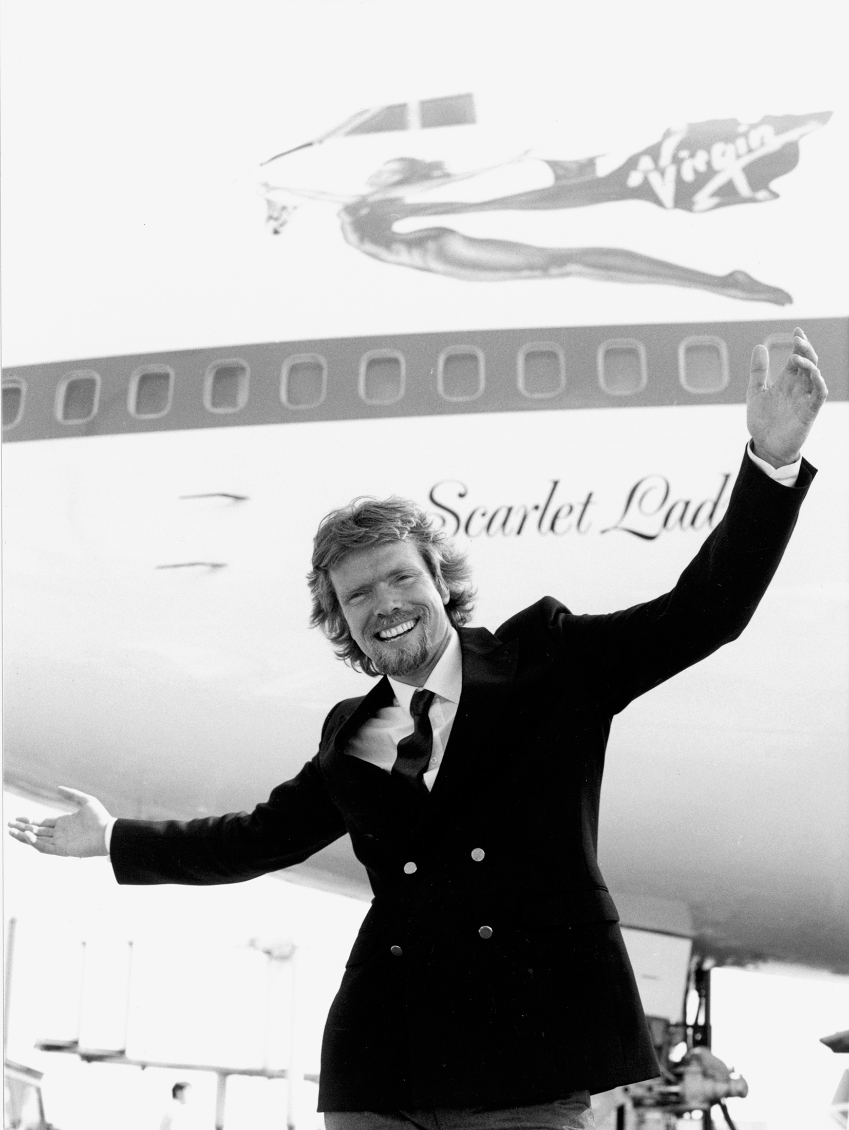 Archival photo of Branson taken during the launch of Virgin Atlantic. (Photo: Courtesy Virgin Atlantic)