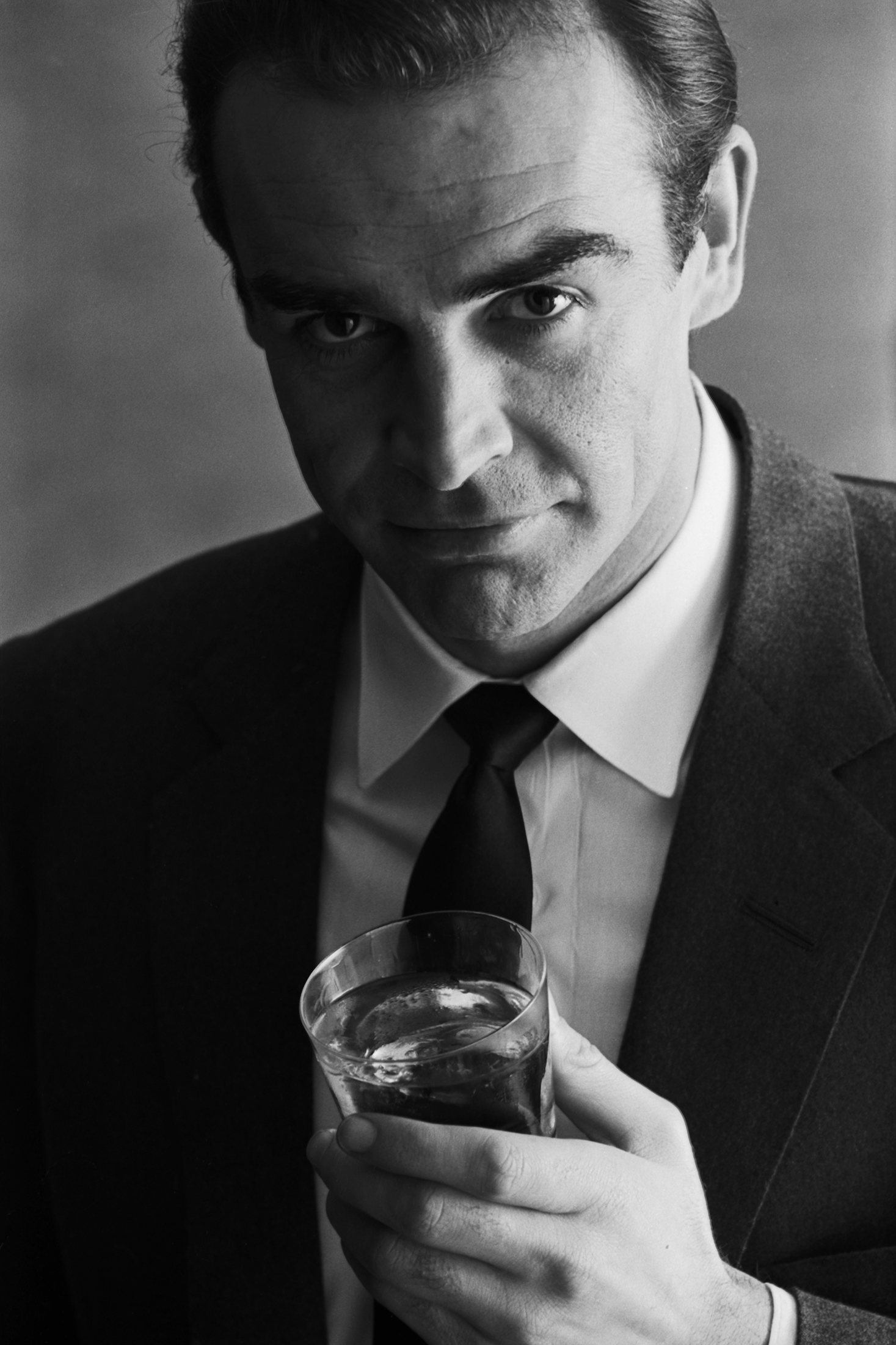 Sean Connery in a 1962 advertising shoot for Smirnoff Vodka.