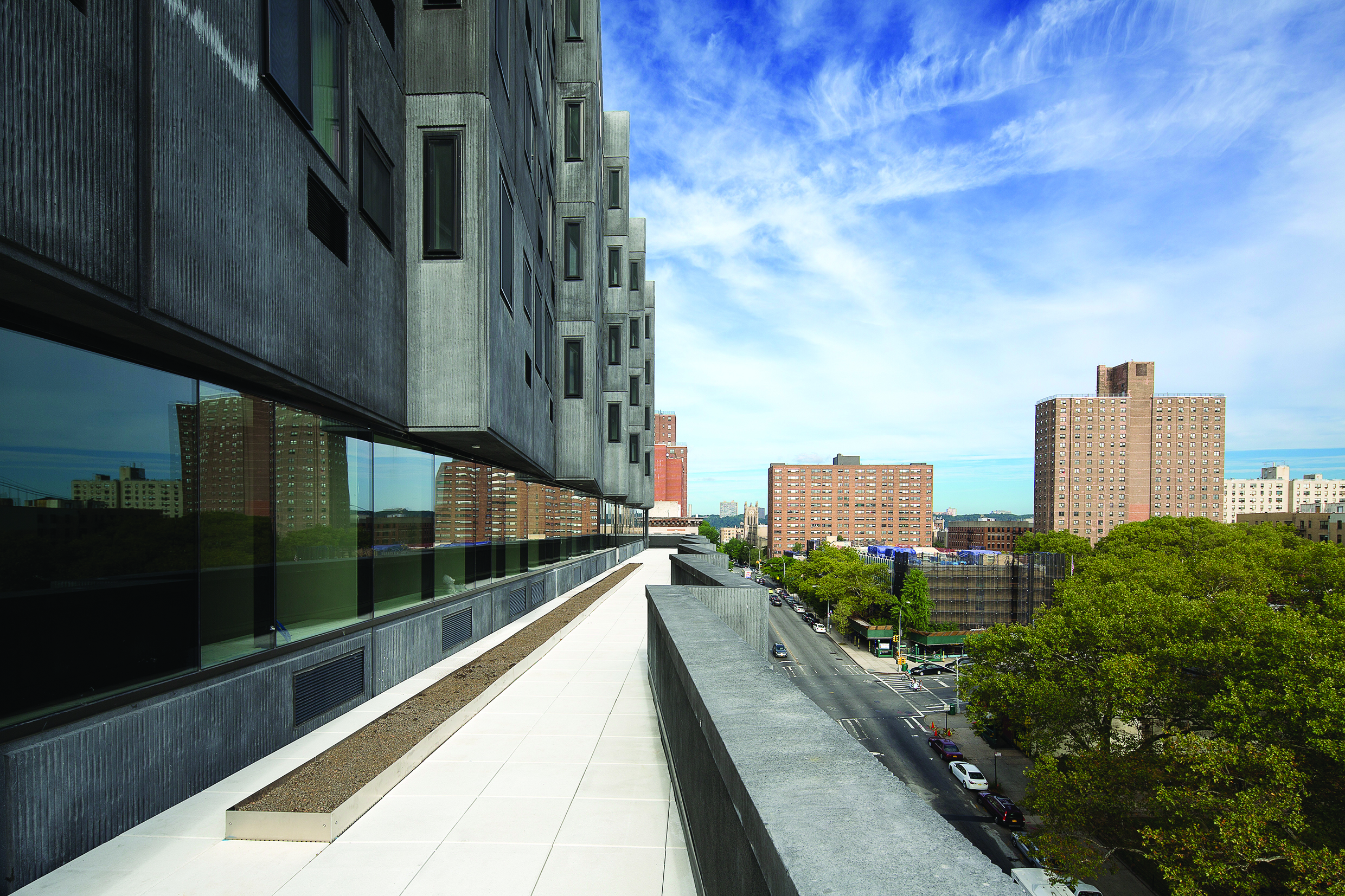 View from the terrace of the Sugar Hill project. (Photo:  Ed Reeve)