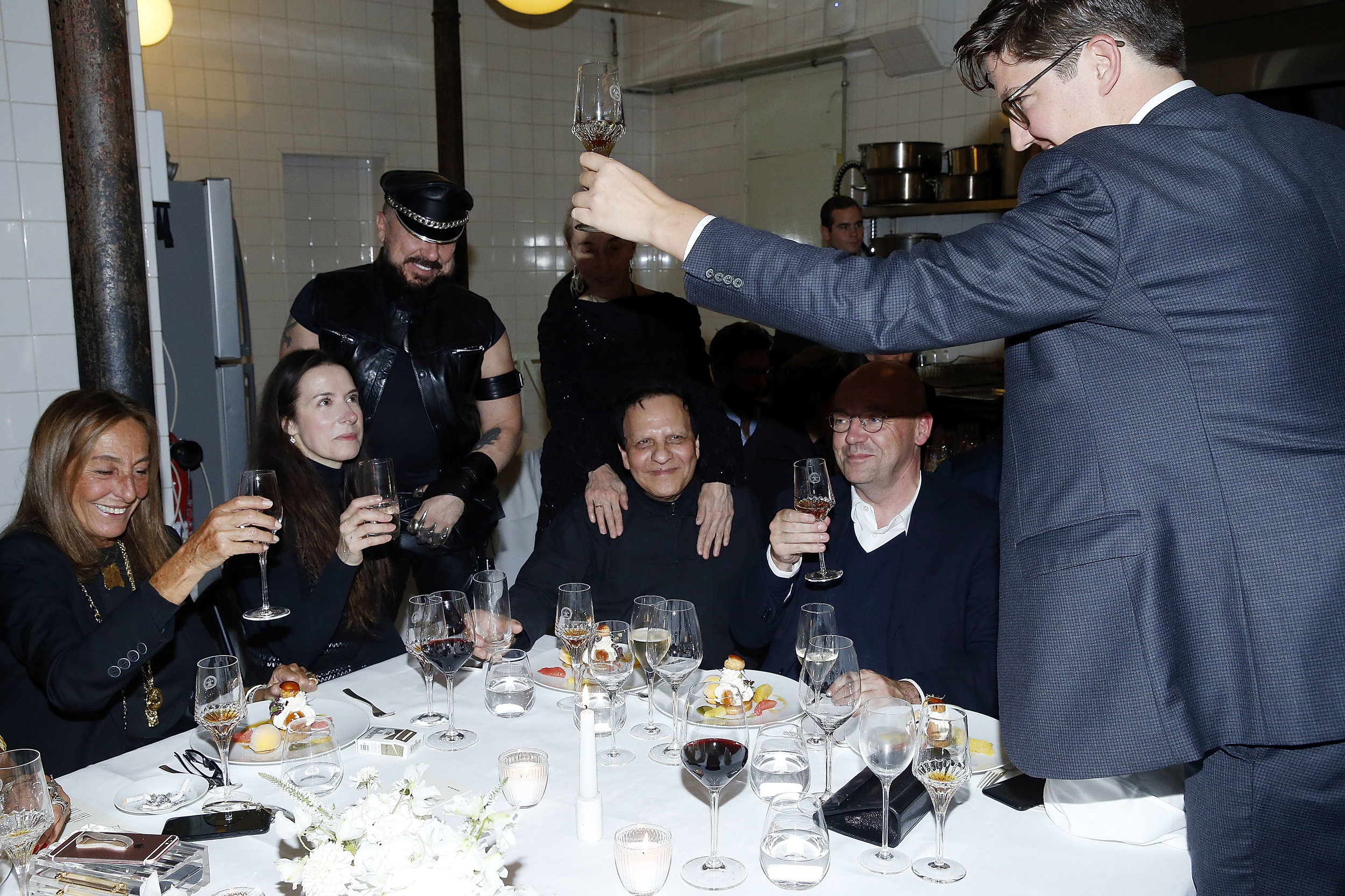 Editor-in-chief Spencer Bailey gives a toast. (Photos: Bertrand Rindoff Petroff/Getty Images for  Surface )