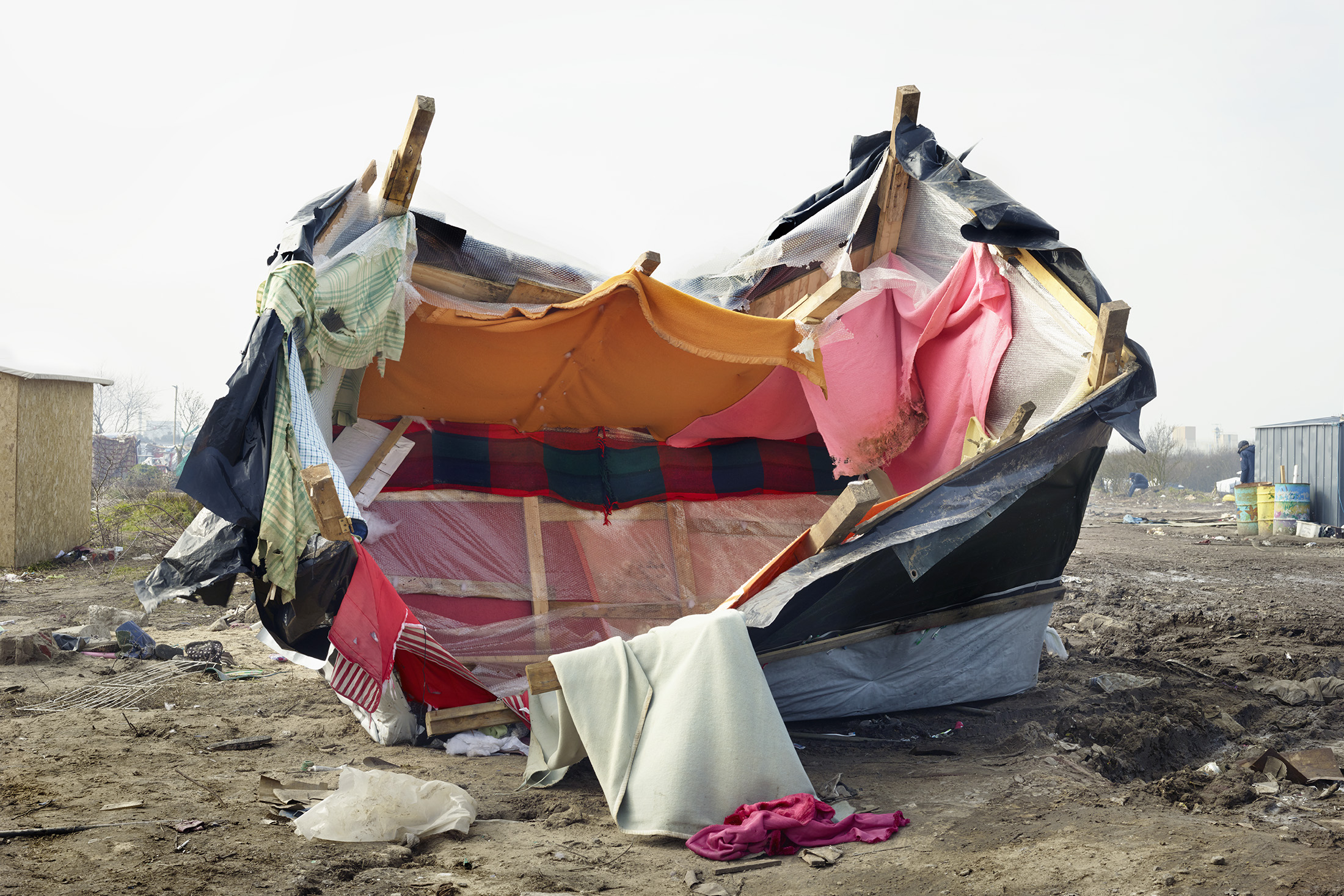 """""""Calais, France, March 2016"""" by Henk Wildschut is part of MoMA's """"Insecurities: Tracing Displacement and Shelter.""""(Photo: Courtesy of the artist)"""