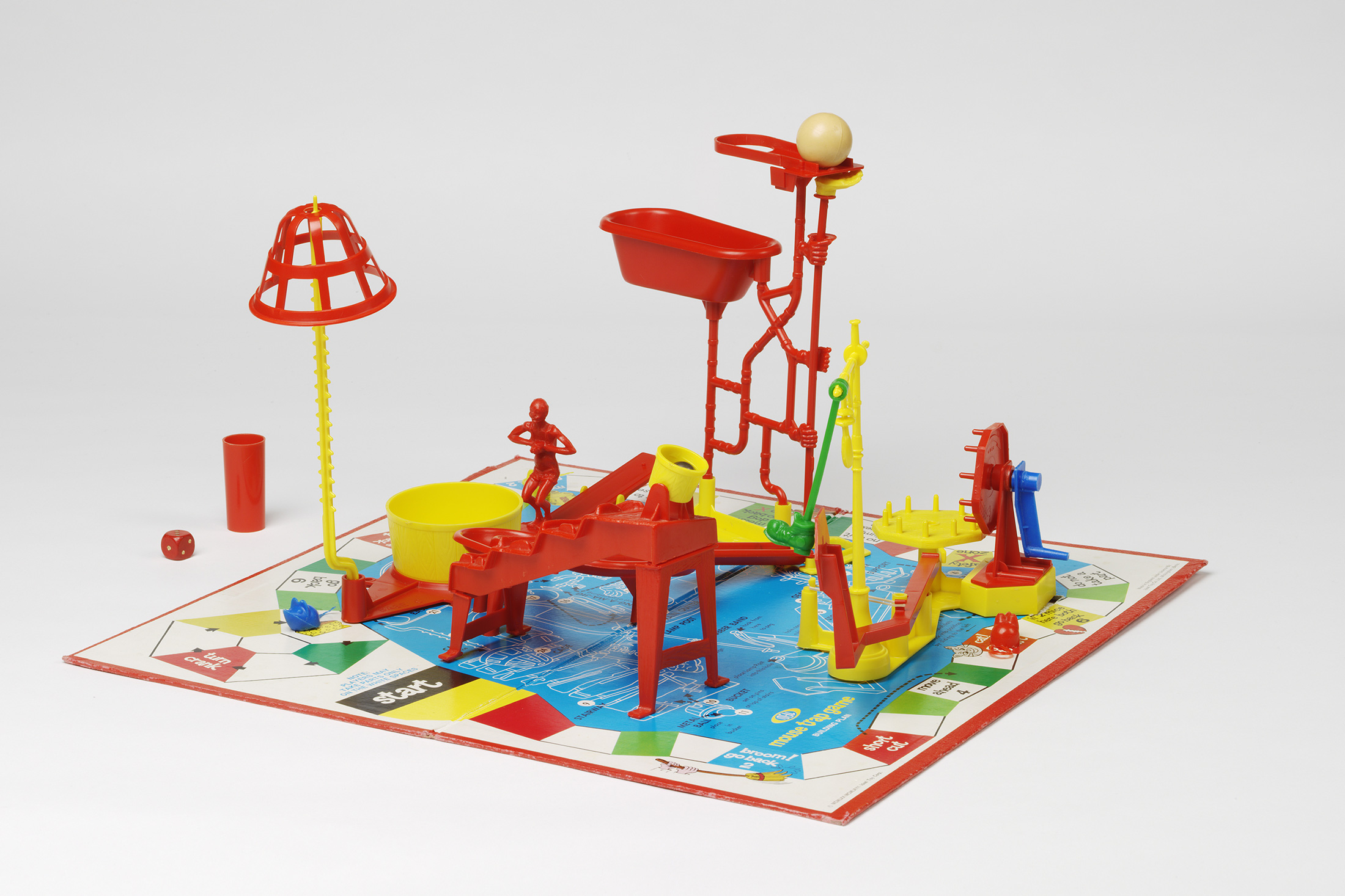"""The set for the game Mousetrap manufactured in the 1990s by American company Ideal Toy Co. (Photo: Courtesy of Amy King and the Virginia and Albert Museum, London)"""