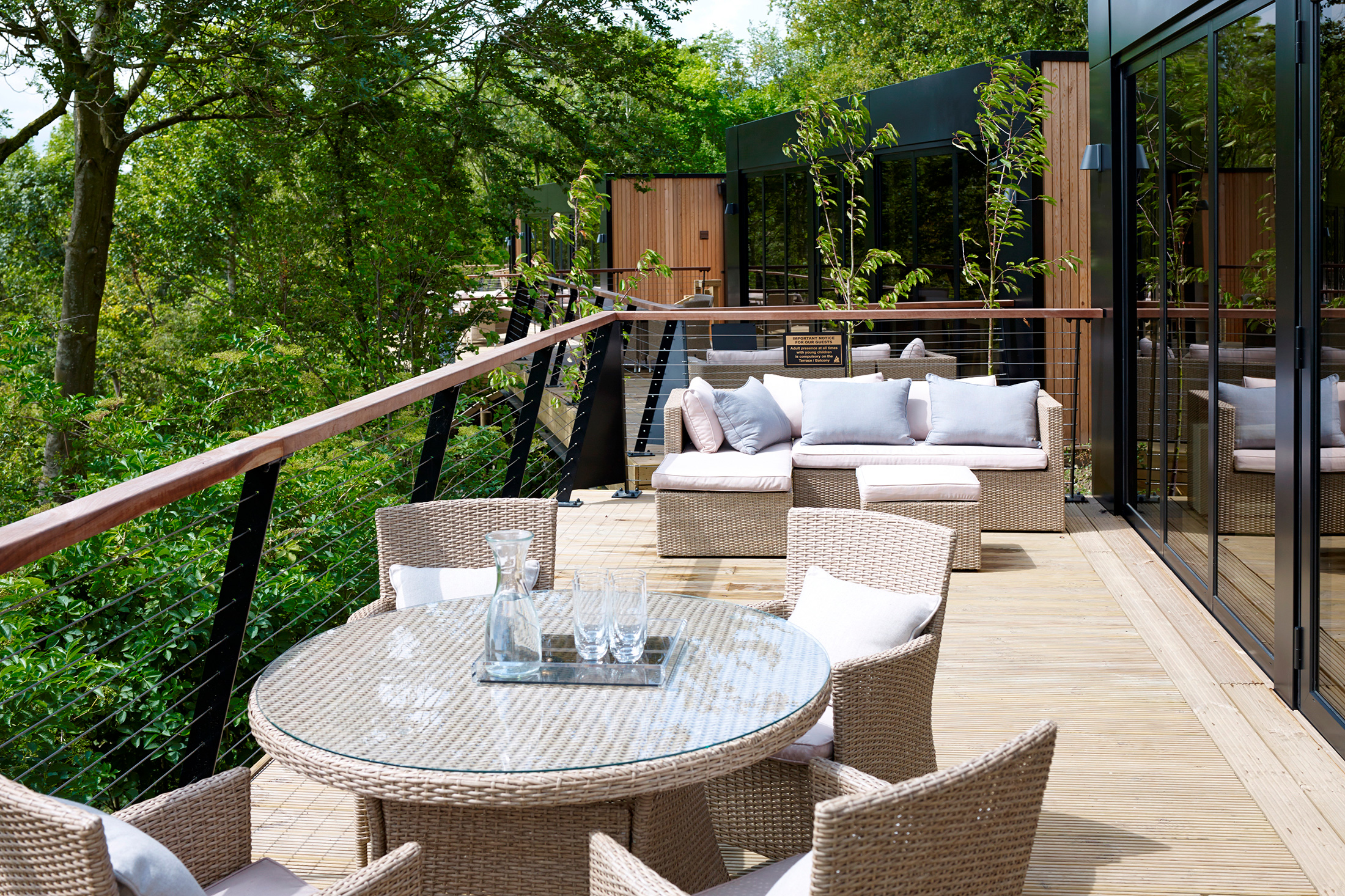 The Treehouse Hotel, located above the Port Lympne Reserve in Kent. (Photo: Courtesy Treehouse Hotel)