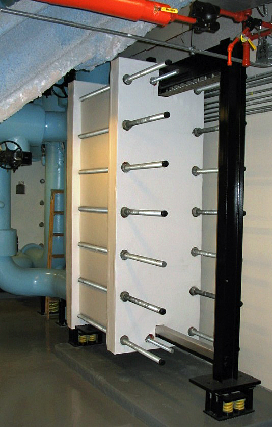 """Chilled Water Exchanger  Port Size: 8"""" Heat Transfer Area: 5,200 sq ft"""