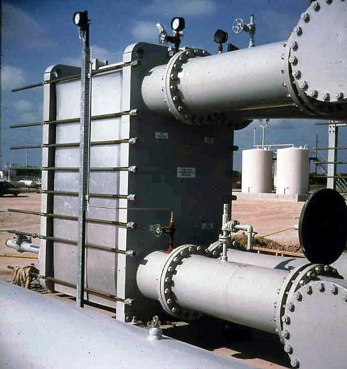 "Auxiliary Cool Water Exchanger  Power Generation Port Size: 20"" Heat Transfer Area:  12,000 sq ft"