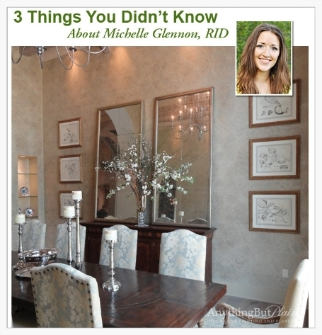 Designer Feature: Michelle Glennon I Anything But Plain   Get to know me! Houston's Anything But Plain interviews on more personal topics for an exclusive Designer Feature.