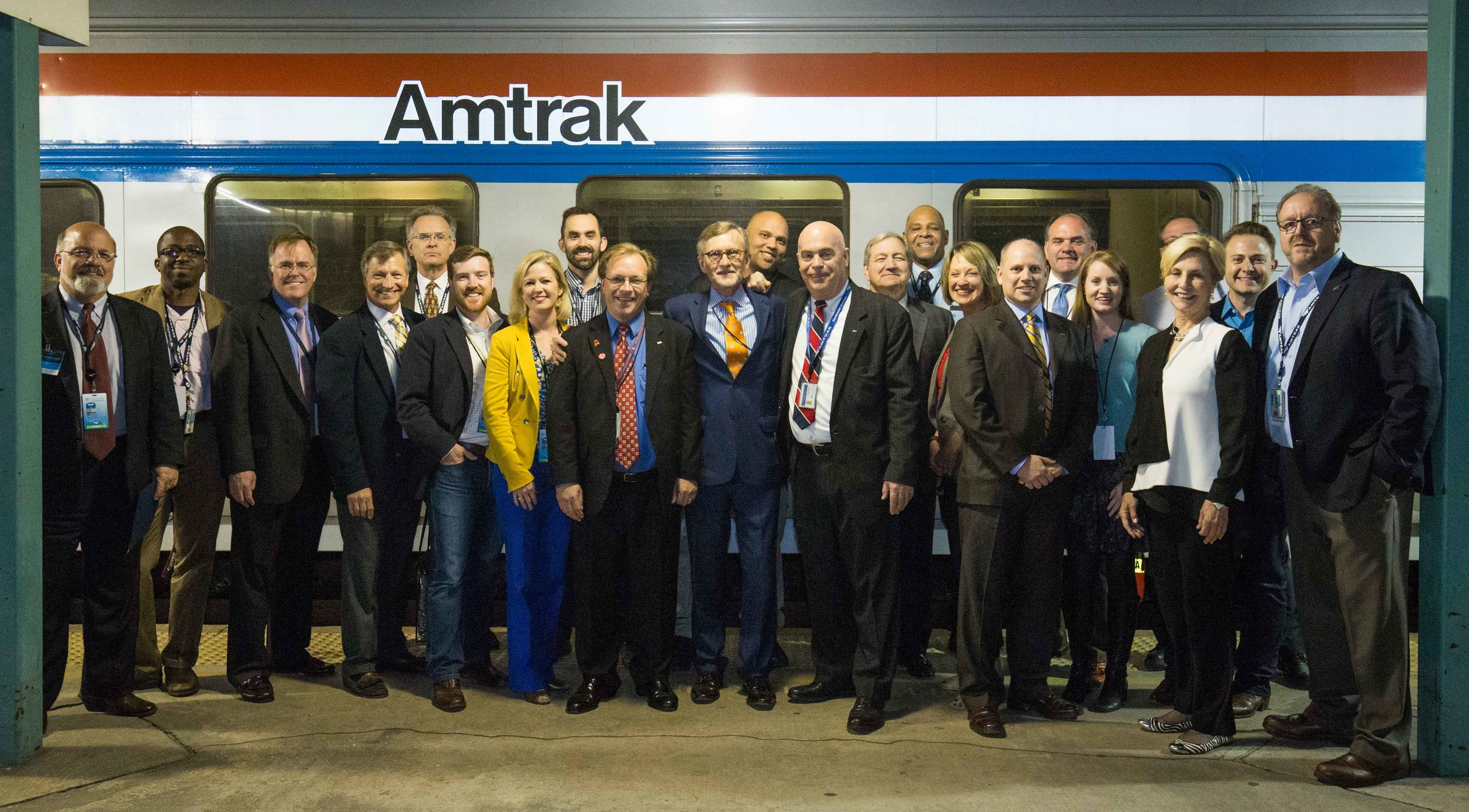 Southern Rail Commission and Amtrak Crew at the Jacksonville Station |  Photo credit  Marc Glucksman/Amtrak